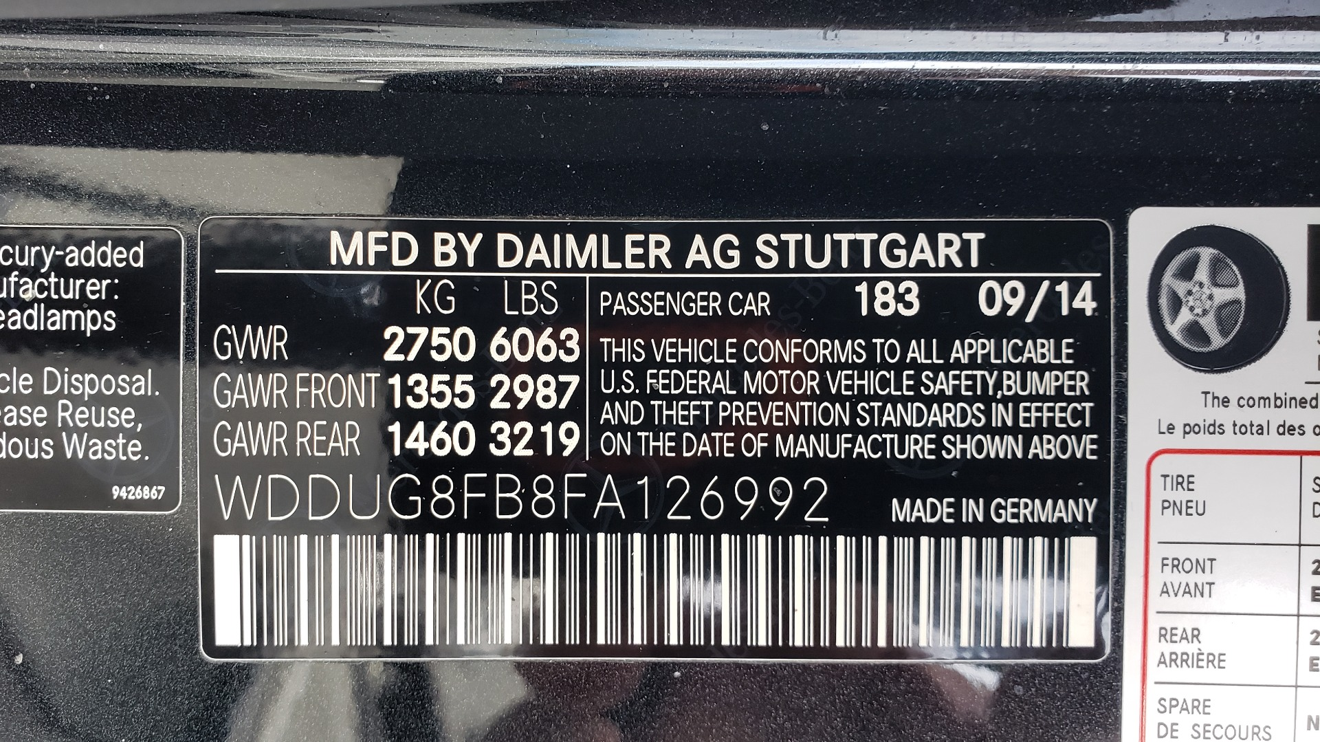 Used 2015 Mercedes-Benz S-CLASS S 550 PREMIUM / SPORT / WARMTH&COMFORT / DRVR ASST / SRND VIEW for sale Sold at Formula Imports in Charlotte NC 28227 104