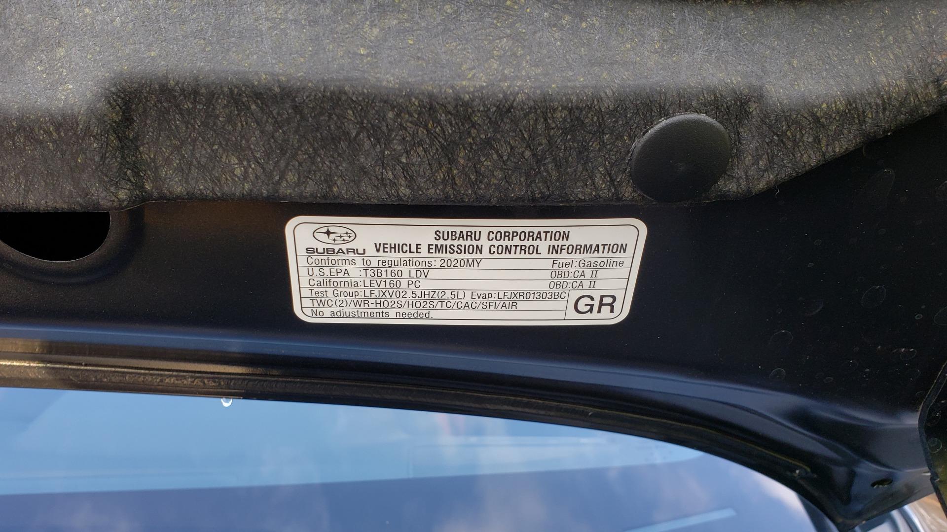Used 2020 Subaru WRX STI 2.5L TURBO / 6-SPEED MANUAL / RECARO SEATS / REARVIEW for sale Sold at Formula Imports in Charlotte NC 28227 19