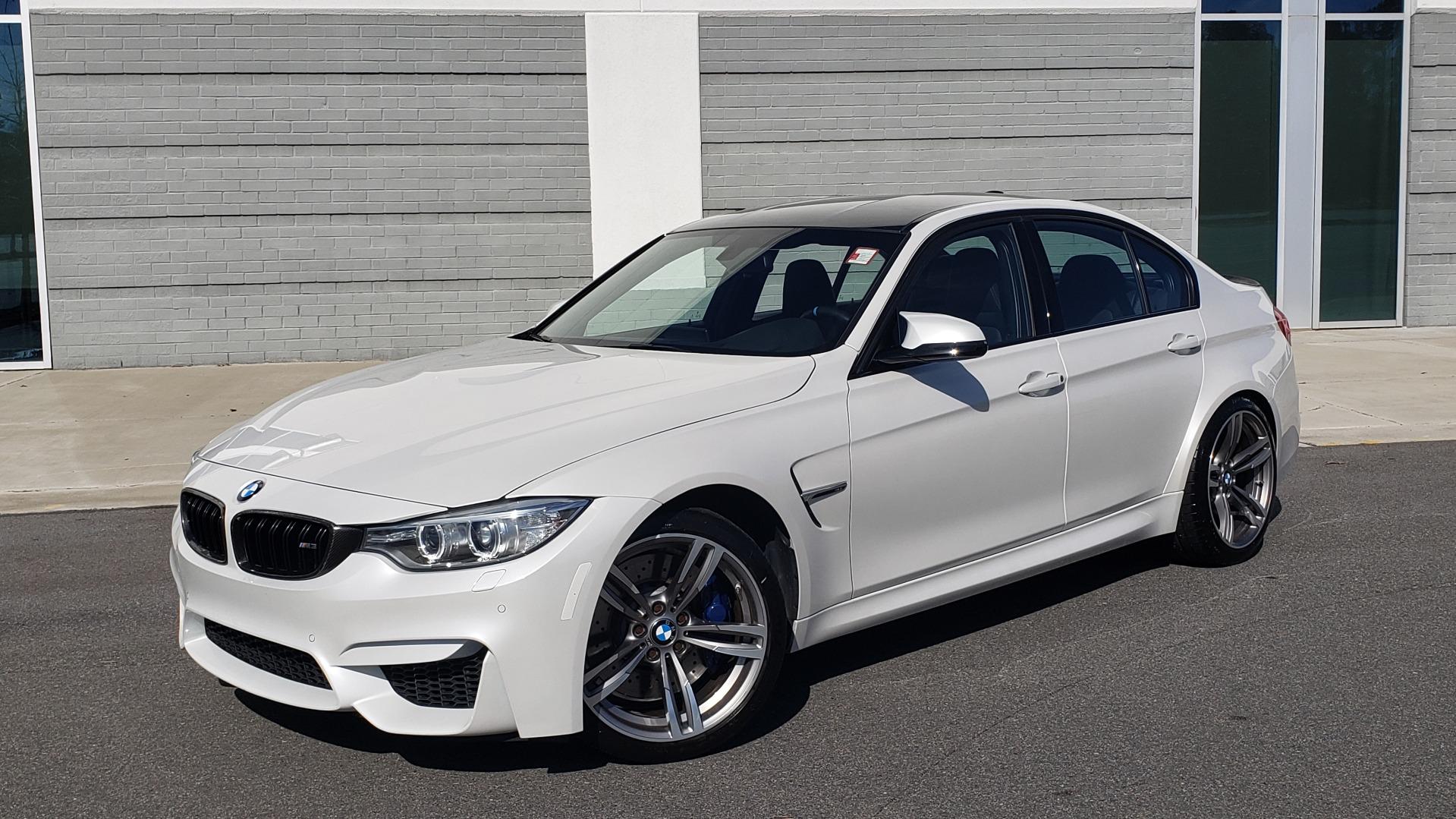 Used 2016 BMW M3 SEDAN / EXECUTIVE PKG / M-SUSPENSION / HARMAN/KARDON SOUND for sale Sold at Formula Imports in Charlotte NC 28227 1