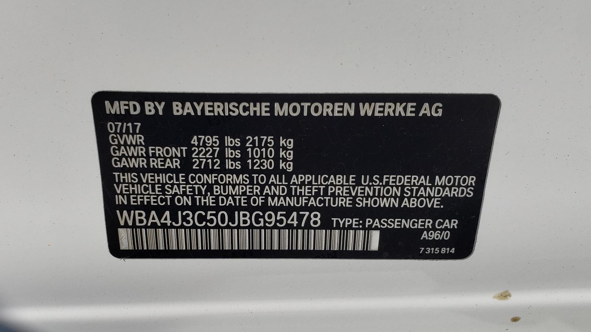Used 2018 BMW 4 SERIES 430IXDRIVE / PREMIUM / NAV / SUNROOF / ESSENTIALS PKG for sale $28,995 at Formula Imports in Charlotte NC 28227 91