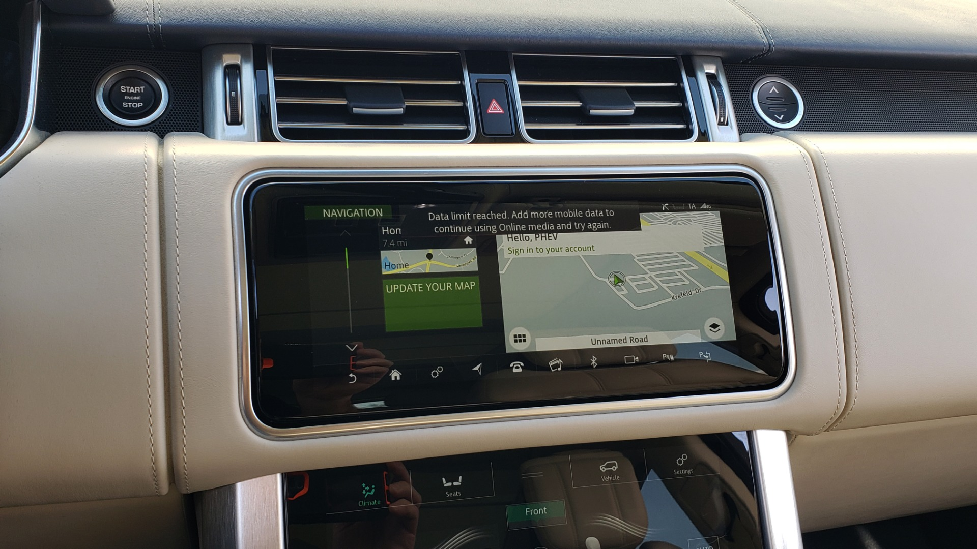 Used 2020 Land Rover RANGE ROVER AUTOBIOGRAPHY HYBRID / NAV / SUNROOF / REARVIEW for sale $110,000 at Formula Imports in Charlotte NC 28227 58