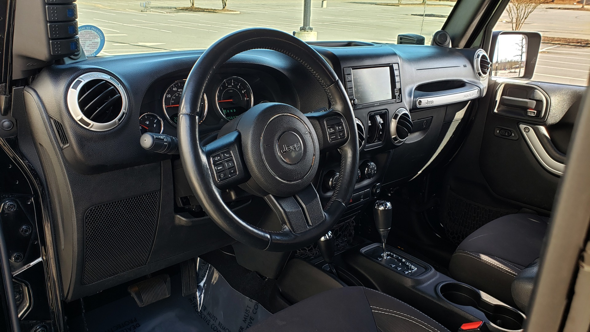Used 2014 Jeep WRANGLER UNLIMITED SAHARA 4X4 / 3.6L V6 / 5-SPD AUTO / NAV / TOW PKG / SOFT-TOP for sale $24,795 at Formula Imports in Charlotte NC 28227 43