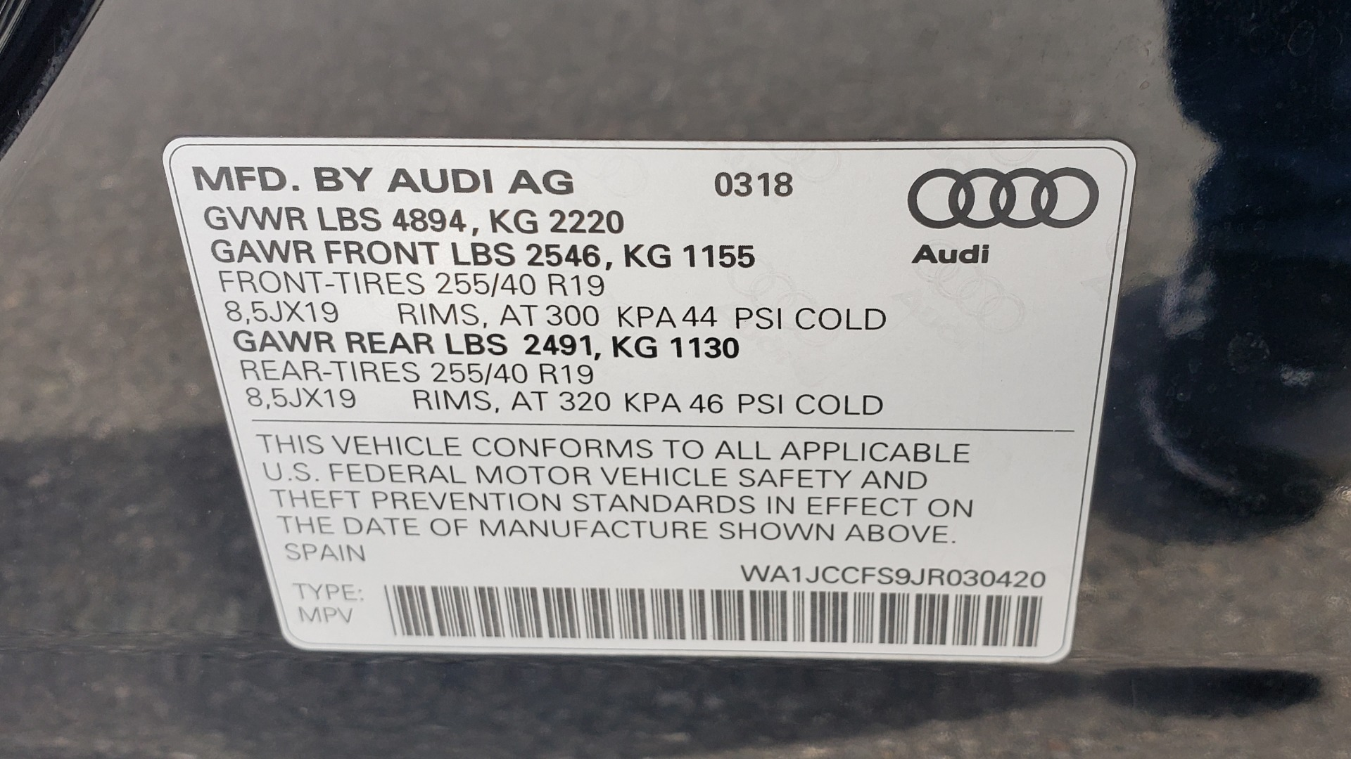 Used 2018 Audi Q3 SPORT PREMIUM PLUS / TECHNOLOGY / SUNROOF / BOSE / REARVIEW for sale Sold at Formula Imports in Charlotte NC 28227 85