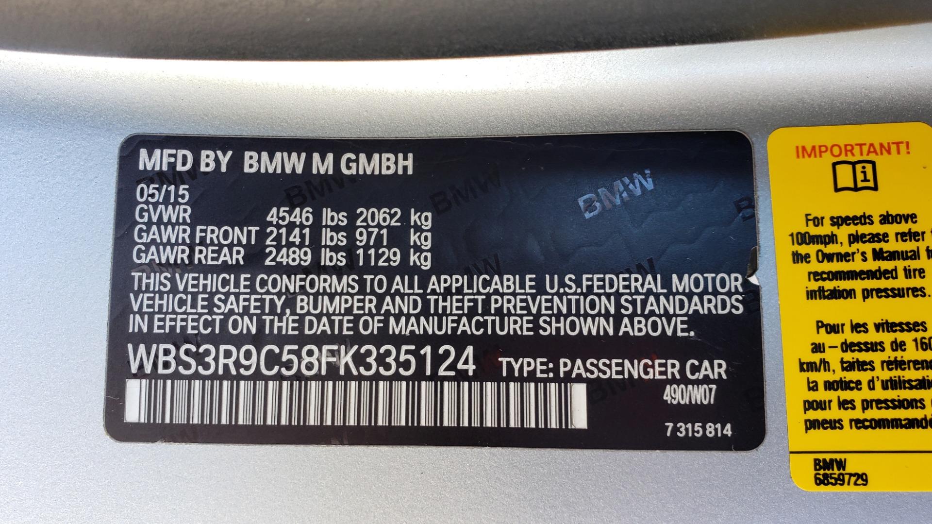 Used 2015 BMW M4 COUPE / EXEC PKG / DRVR ASST PLUS / LIGHTING / M-SUSPENSION for sale Sold at Formula Imports in Charlotte NC 28227 89