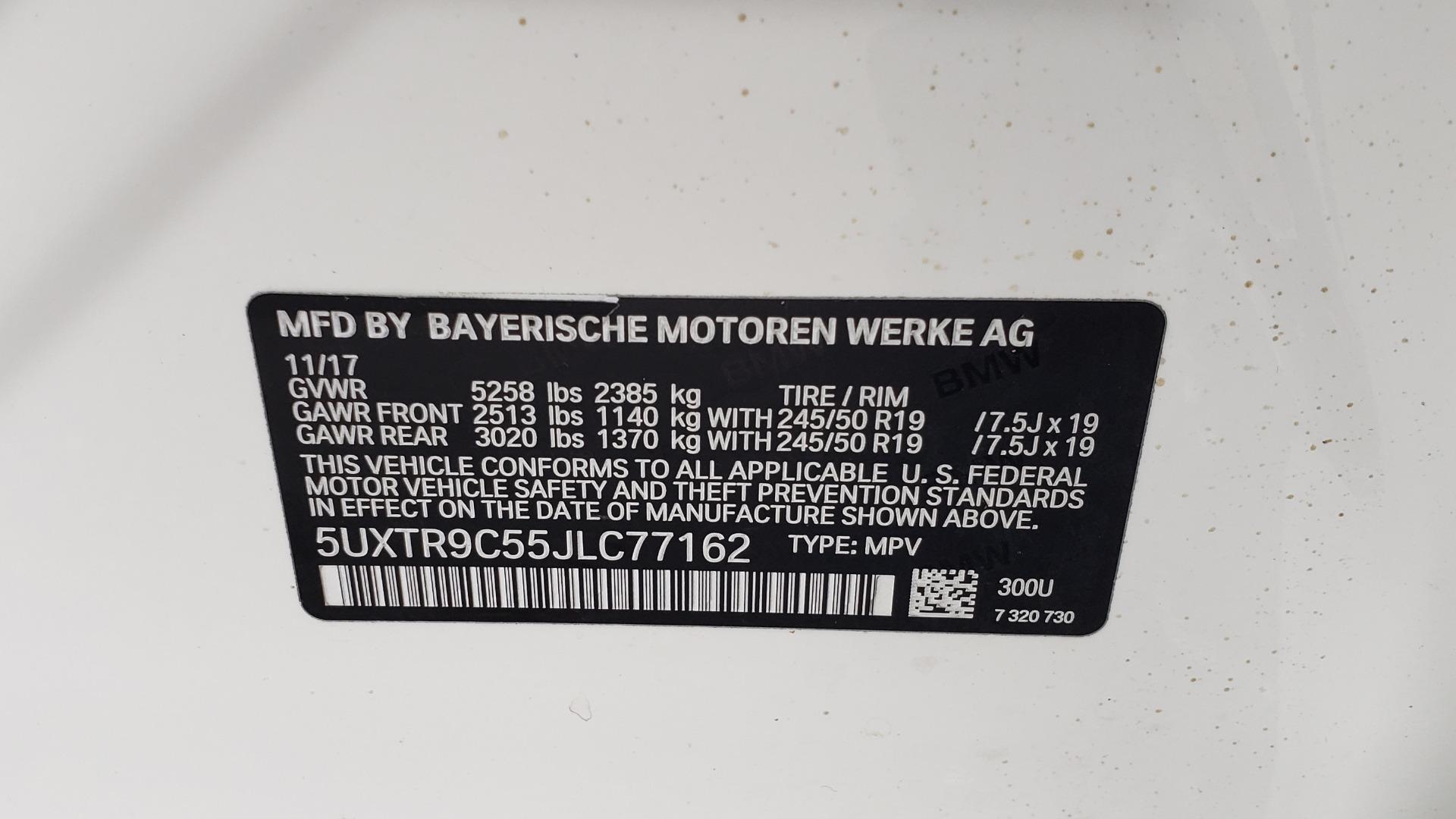 Used 2018 BMW X3 XDRIVE30I / LUX PKG / PREM PKG / CONV PKG / PDC / APPLE CARPLAY for sale Sold at Formula Imports in Charlotte NC 28227 95