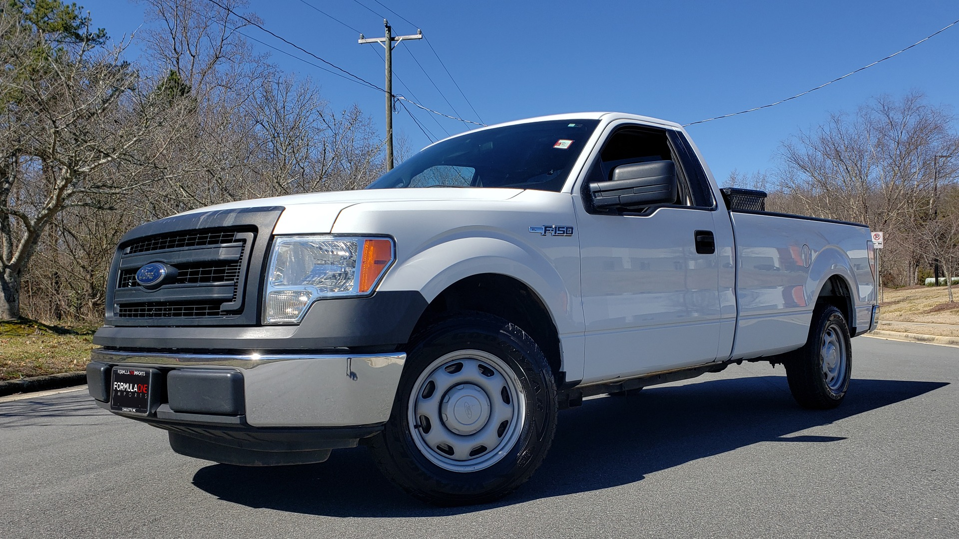 Used 2013 Ford F-150 XL / 2WD / V6 / AUTO / LONG BED / 145IN WB / WORK TRUCK for sale Call for price at Formula Imports in Charlotte NC 28227 1