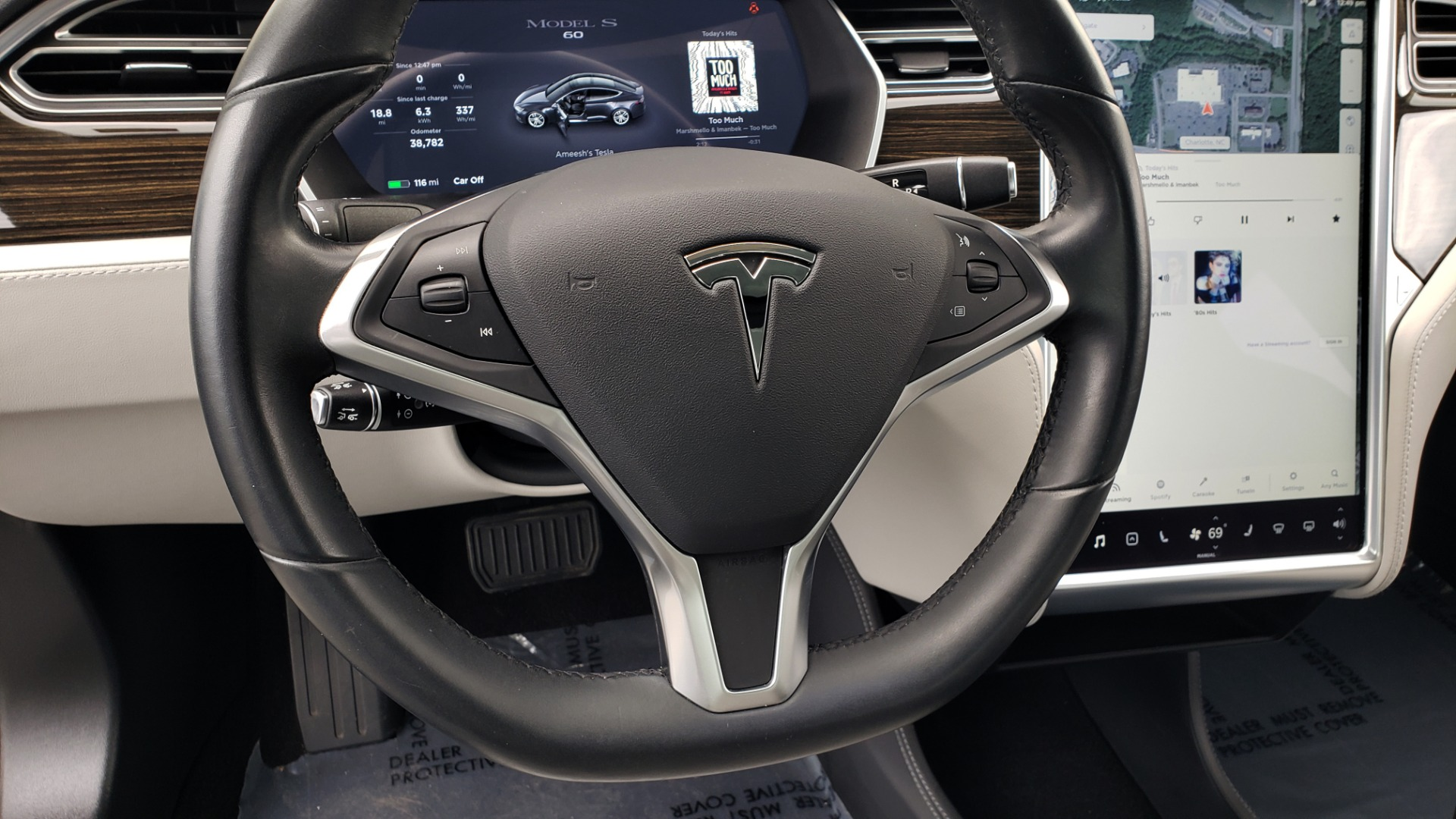 Used 2014 Tesla MODEL S 60 kWh BATTERY / TECH / NAV / SUBZERO / SUNROOF / REARVIEW for sale Sold at Formula Imports in Charlotte NC 28227 33
