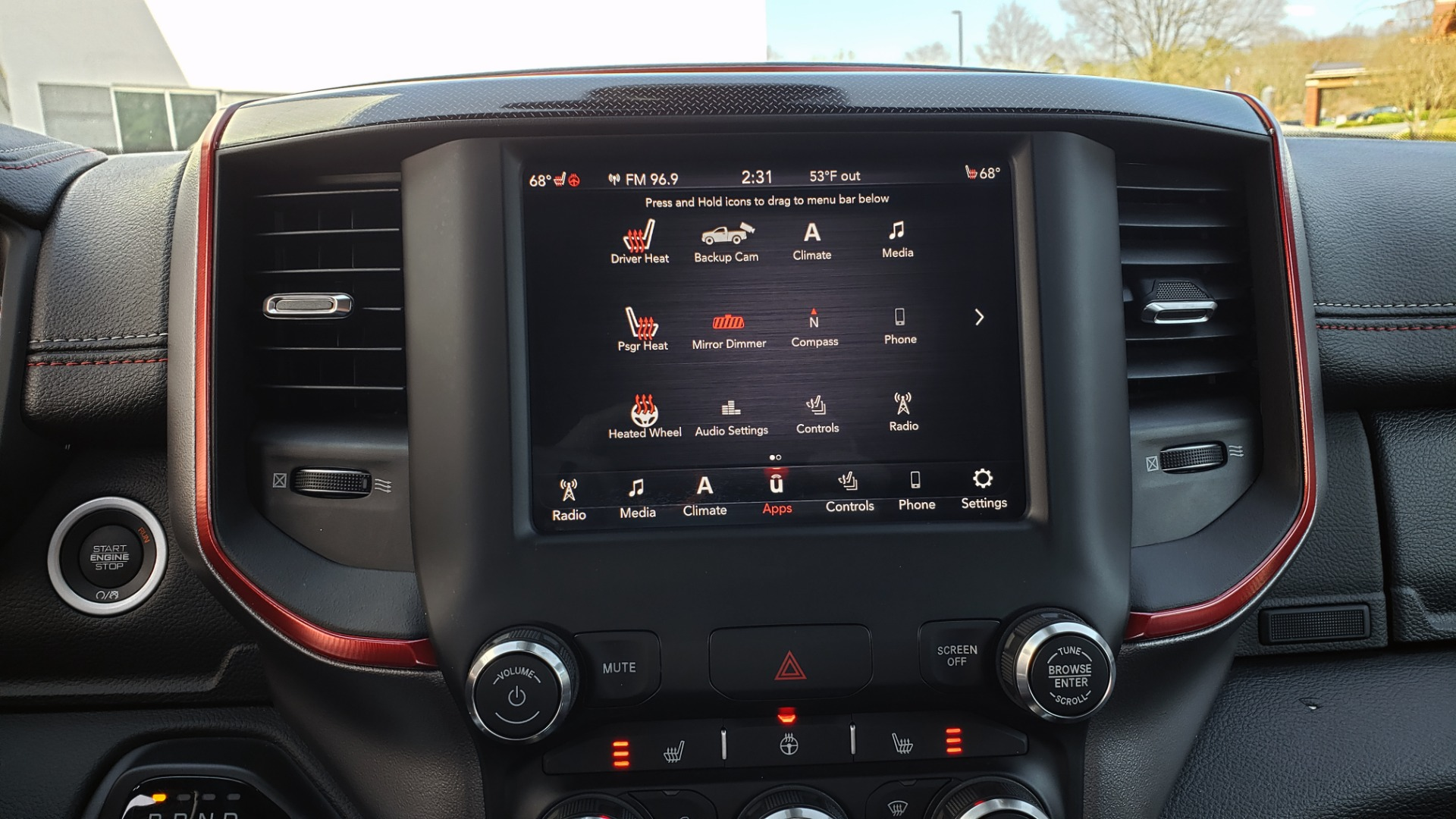 Used 2019 Ram 1500 REBEL CREWCAB 4X4 / 5.7L V8 HEMI / 8-SPD AUTO / REARVIEW for sale Sold at Formula Imports in Charlotte NC 28227 48