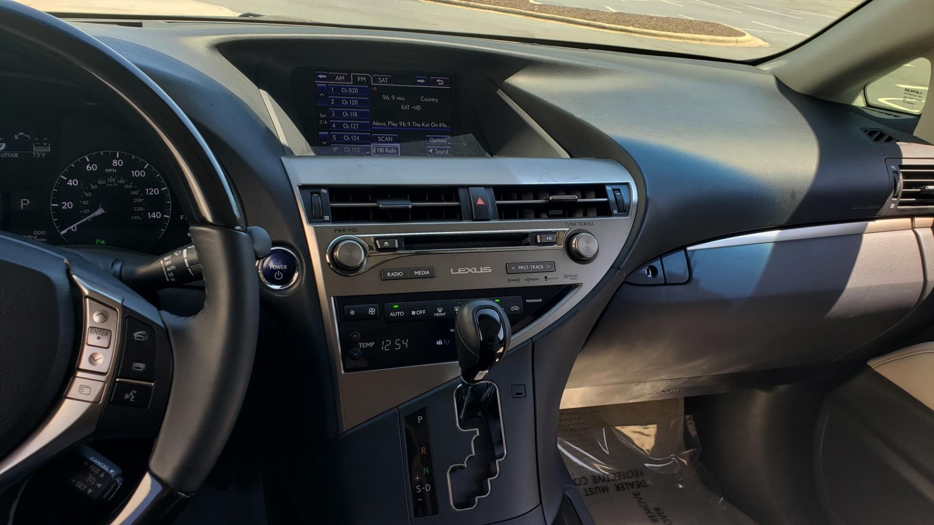 Used 2015 Lexus RX 450H AWD / PREM PKG / NAV / PARK ASST / HUD / BLIND SPOT MONITOR for sale Sold at Formula Imports in Charlotte NC 28227 49