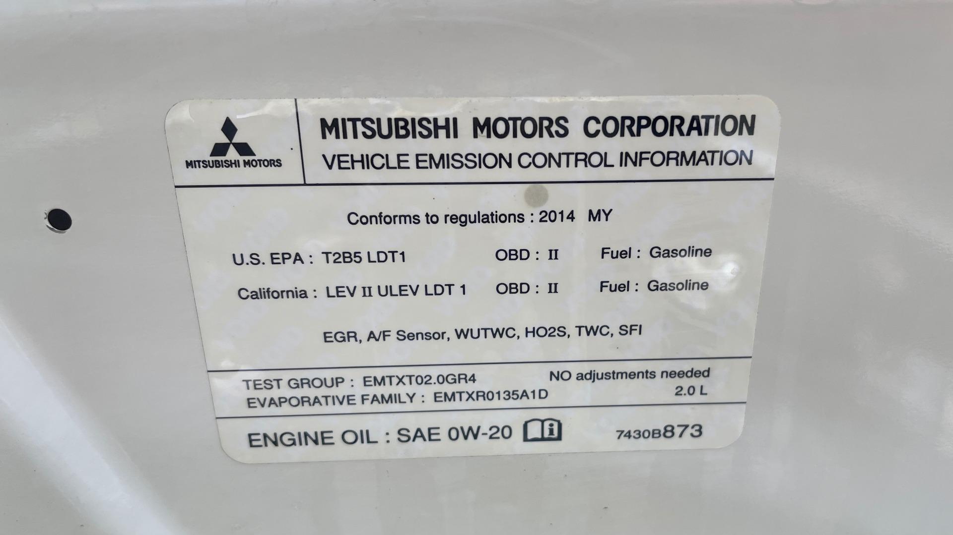 Used 2014 Mitsubishi OUTLANDER SPORT ES 2WD / 2.0L / CVT TRANS / 18IN WHEELS / 31MPG for sale $8,495 at Formula Imports in Charlotte NC 28227 9
