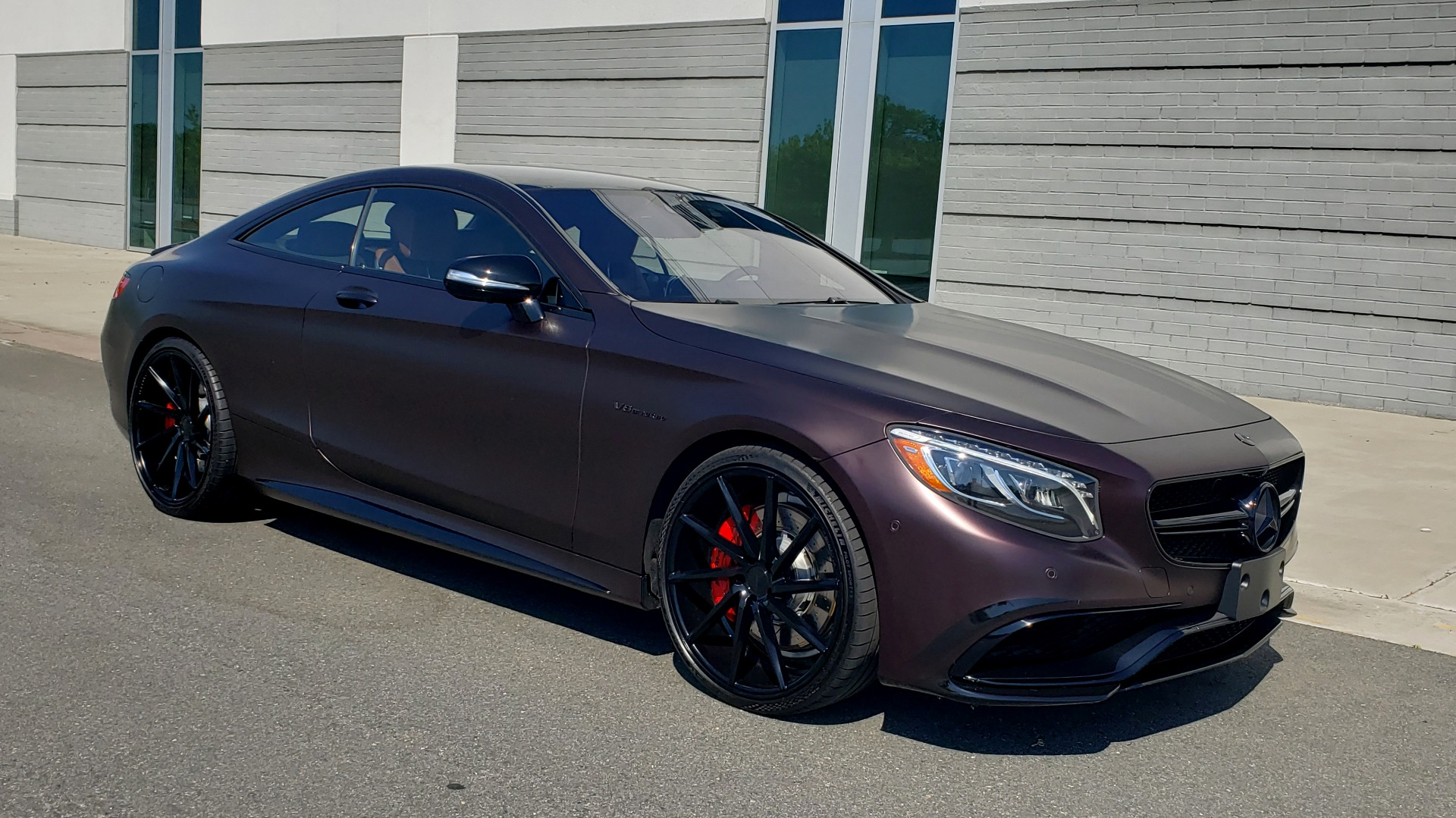 Used 2017 Mercedes-Benz S-CLASS AMG S 63 / NAV / SUNROOF / CUSTOM WRAP / BLACK VOSSEN WHEELS for sale Sold at Formula Imports in Charlotte NC 28227 10