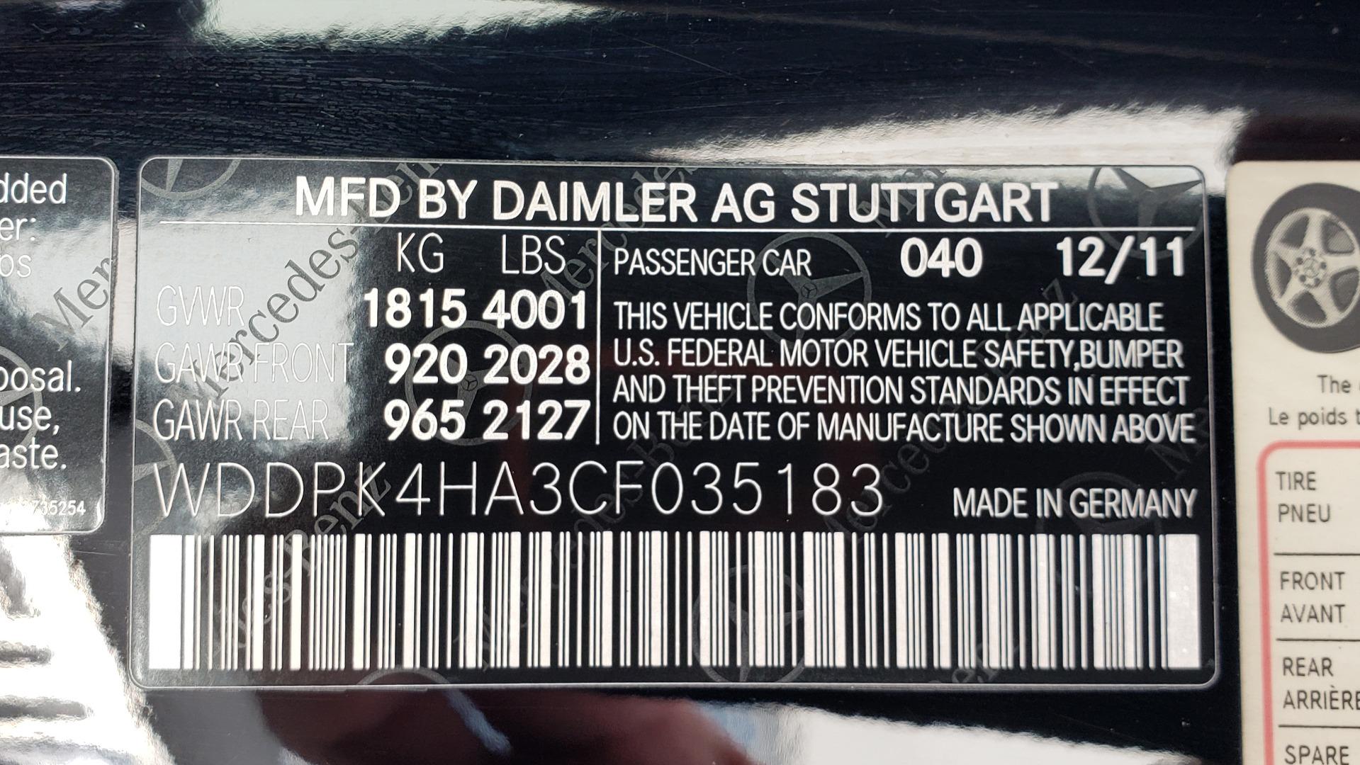 Used 2012 Mercedes-Benz SLK-CLASS SLK 250 ROADSTER / PREM 1 PKG / COMAND LAUNCH PKG / 7-SPD AUTO for sale $24,995 at Formula Imports in Charlotte NC 28227 56