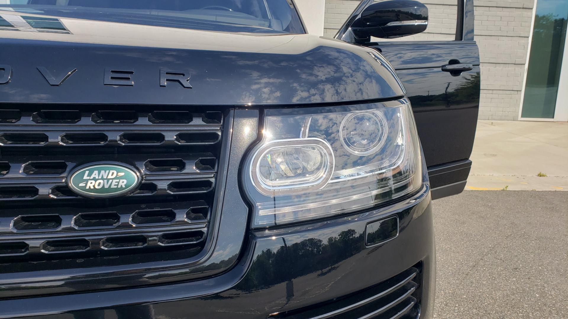 Used 2017 Land Rover RANGE ROVER SC V8 / VISION ASST / DRIVE PKG / MERIDIAN SOUND / PANO-ROOF / NAV / BSM for sale $75,995 at Formula Imports in Charlotte NC 28227 27