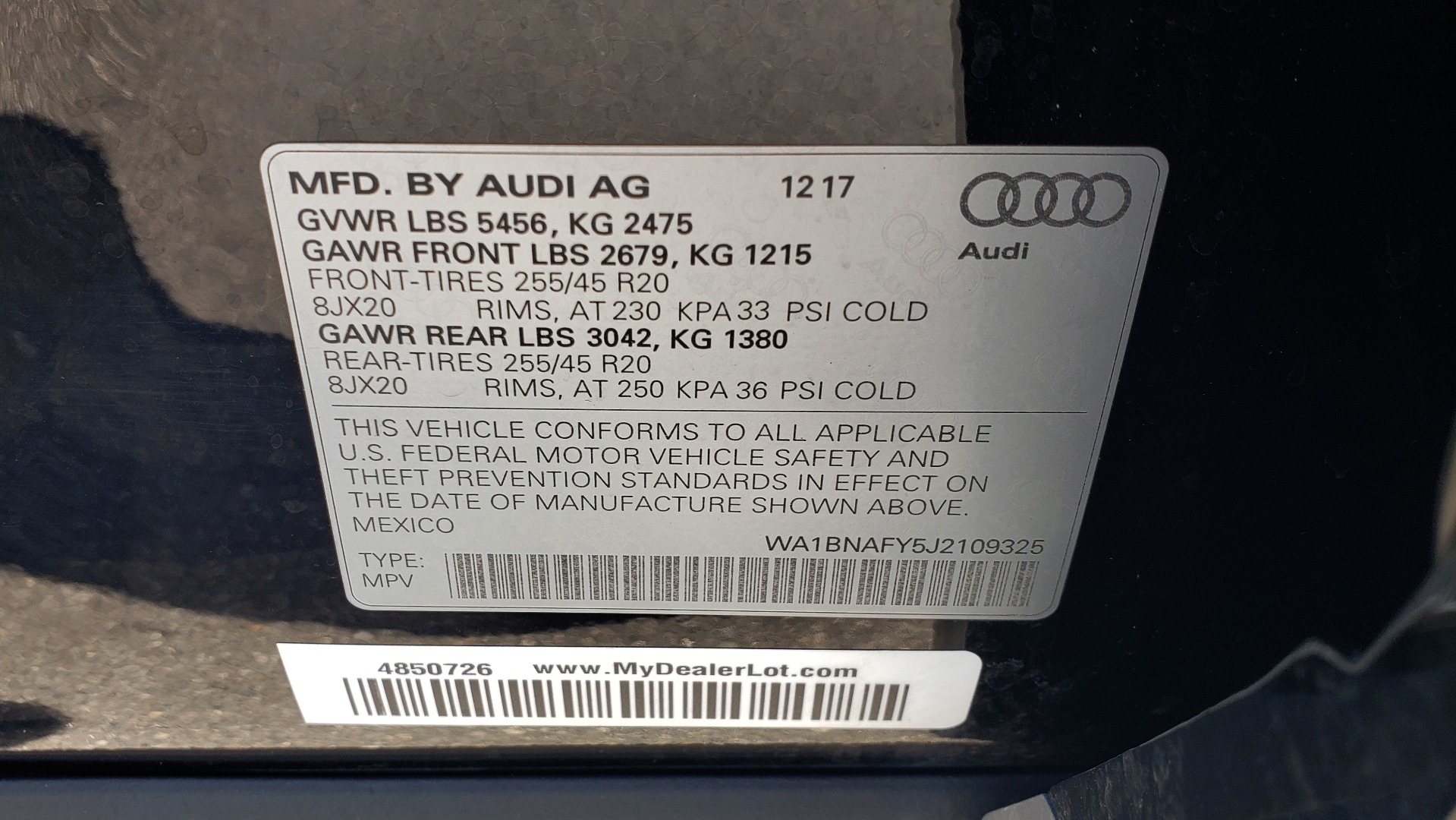 Used 2018 Audi Q5 PREMIUM PLUS / NAV / B&O SND / CLD WTHR / SUNROOF / REARVIEW for sale Sold at Formula Imports in Charlotte NC 28227 91