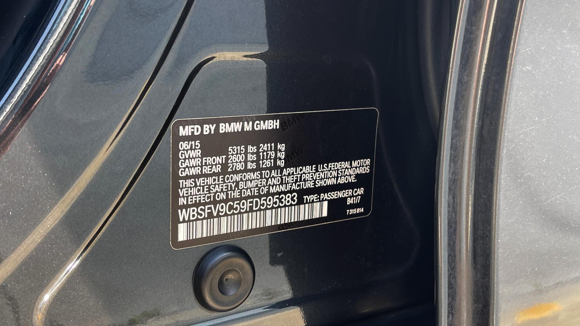Used 2015 BMW M5 SEDAN / EXEC PKG / HUD / NAV / B&O SND / SUNROOF / REARVIEW for sale Sold at Formula Imports in Charlotte NC 28227 108