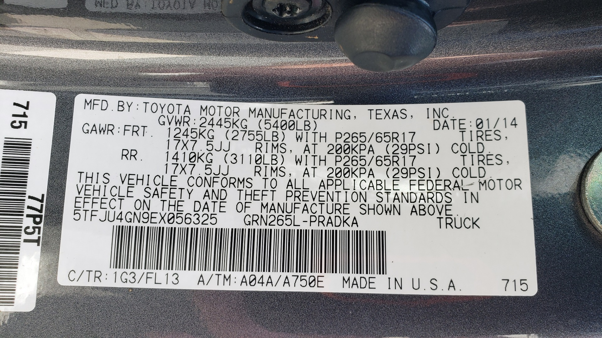 Used 2014 Toyota TACOMA PRERUNNER DOUBLECAB / TRD SPORT / V6 / 5-SPD AUTO / TOW PKG for sale $21,595 at Formula Imports in Charlotte NC 28227 72