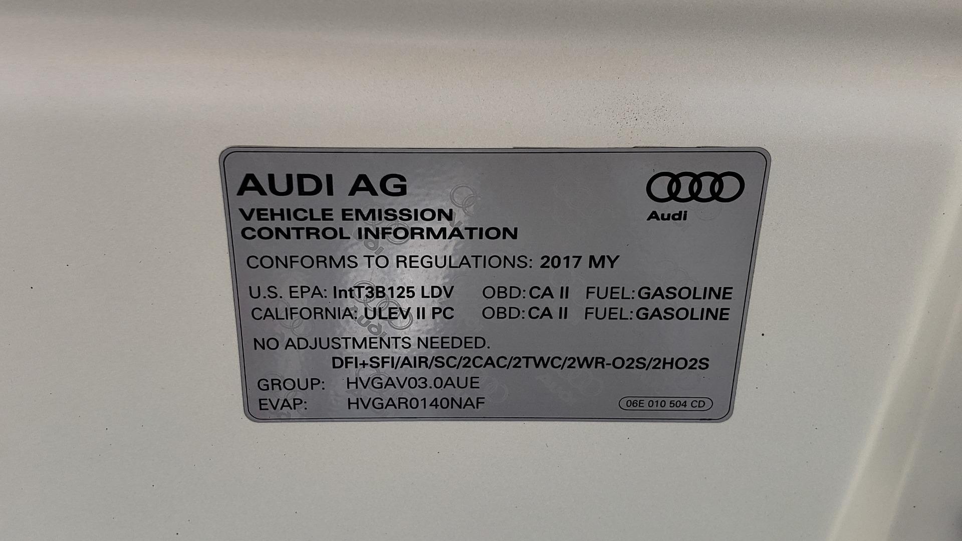 Used 2017 Audi A6 PRESTIGE SEDAN 3.0T / NAV / SUNROOF / BLACK OPTIC / CLD WTHR / REARVIEW for sale $30,797 at Formula Imports in Charlotte NC 28227 17