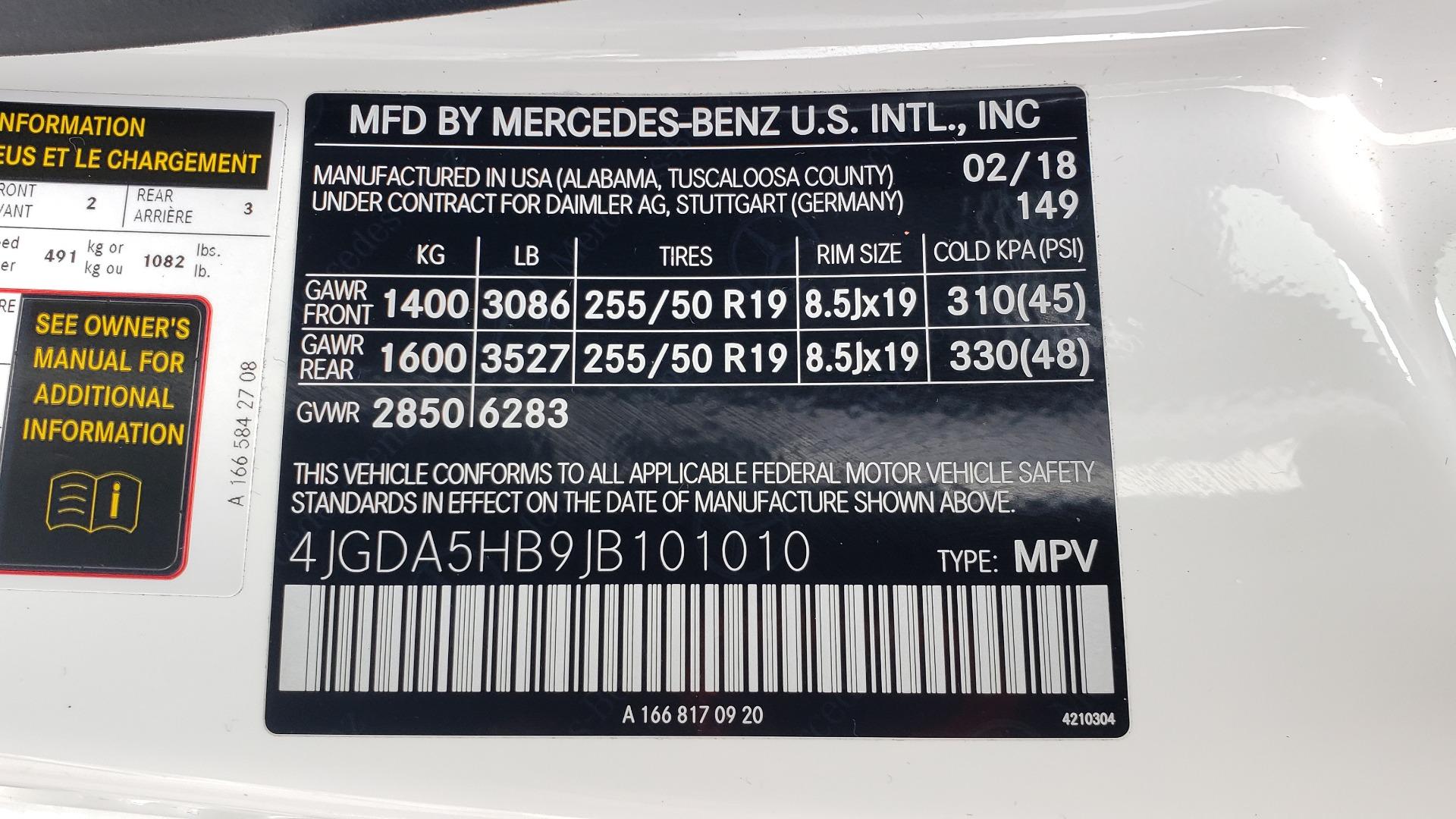 Used 2018 Mercedes-Benz GLE 350 4MATIC / PREM PKG / NAV / PARK ASST / K/H SND / HITCH / REARVIEW for sale $40,801 at Formula Imports in Charlotte NC 28227 90