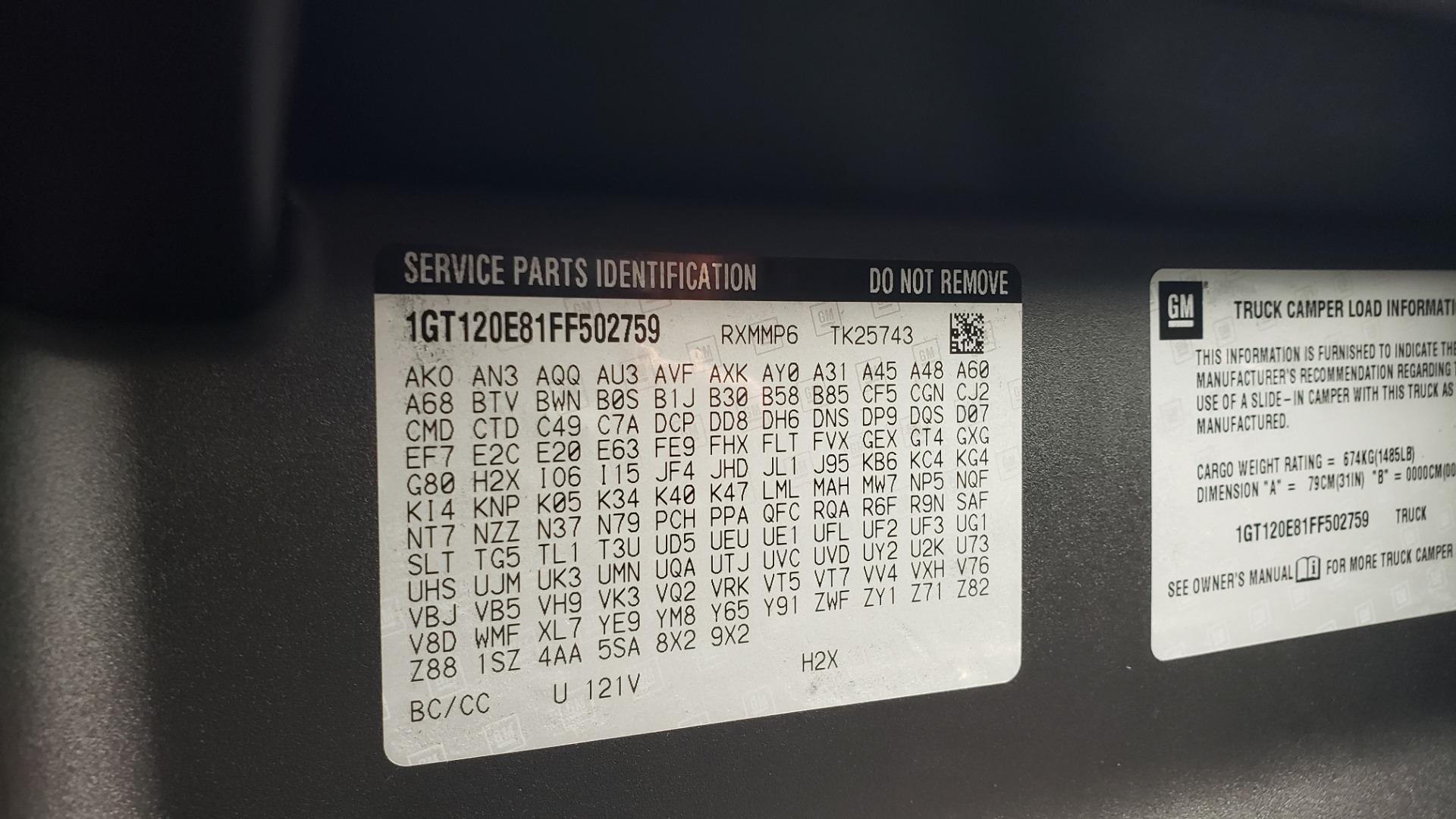 Used 2015 GMC SIERRA 2500HD DENALI / WIFI / NAV / DURAMAX PLUS / DRVR ALERT / SUNROOF / REARVIEW for sale $56,995 at Formula Imports in Charlotte NC 28227 44