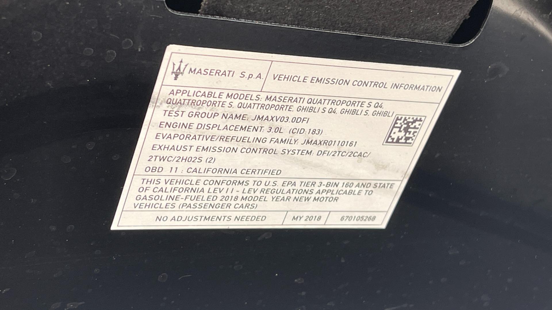 Used 2018 Maserati GHIBLI S Q4 SEDAN / AWD / 3.0L V6 / SUNROOF / NAV / REARVIEW for sale $51,995 at Formula Imports in Charlotte NC 28227 7