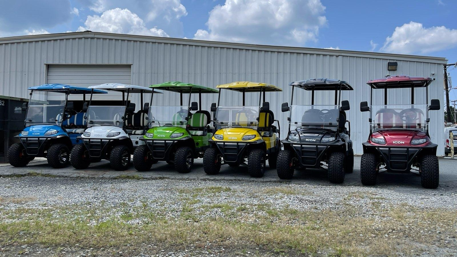Used 2021 ICON I60L LIFTED ELECTRIC CAR / 6-PASSENGER GOLF CART / 25MPH / NEW / 1-MILE for sale $11,399 at Formula Imports in Charlotte NC 28227 47