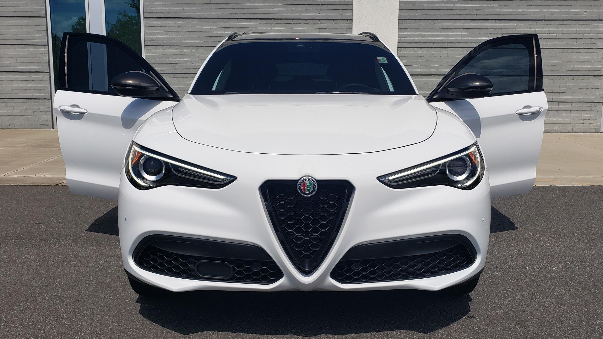 Used 2019 Alfa Romeo STELVIO TI SPORT AWD / 2.0L TURBO / 8-SPD AUTO / DRVR ASST / REARVIEW for sale $37,495 at Formula Imports in Charlotte NC 28227 25