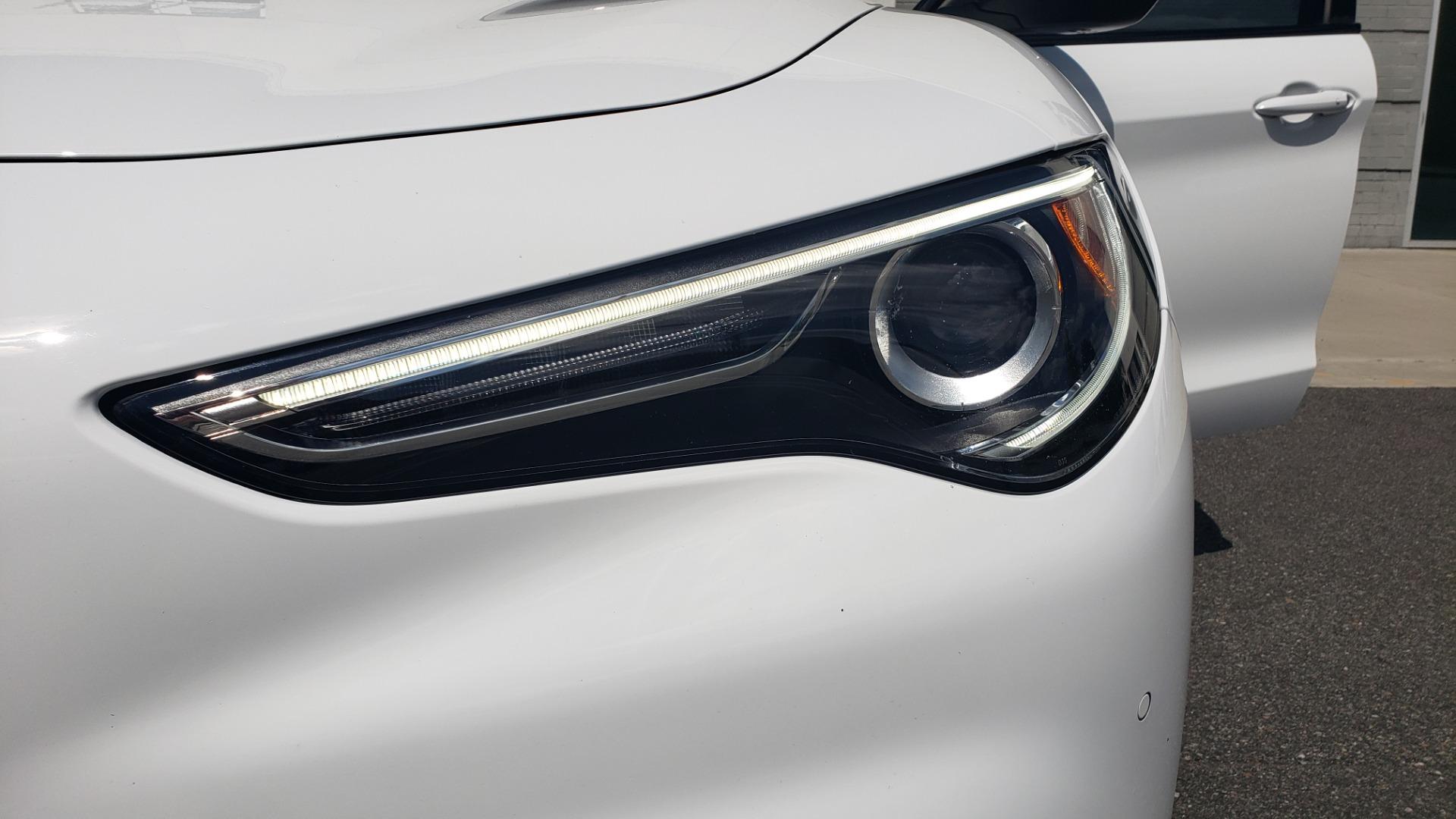 Used 2019 Alfa Romeo STELVIO TI SPORT AWD / 2.0L TURBO / 8-SPD AUTO / DRVR ASST / REARVIEW for sale $37,495 at Formula Imports in Charlotte NC 28227 27