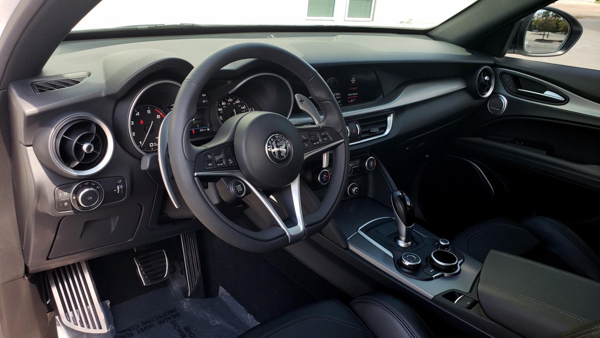 Used 2019 Alfa Romeo STELVIO TI SPORT AWD / 2.0L TURBO / 8-SPD AUTO / DRVR ASST / REARVIEW for sale $37,495 at Formula Imports in Charlotte NC 28227 42