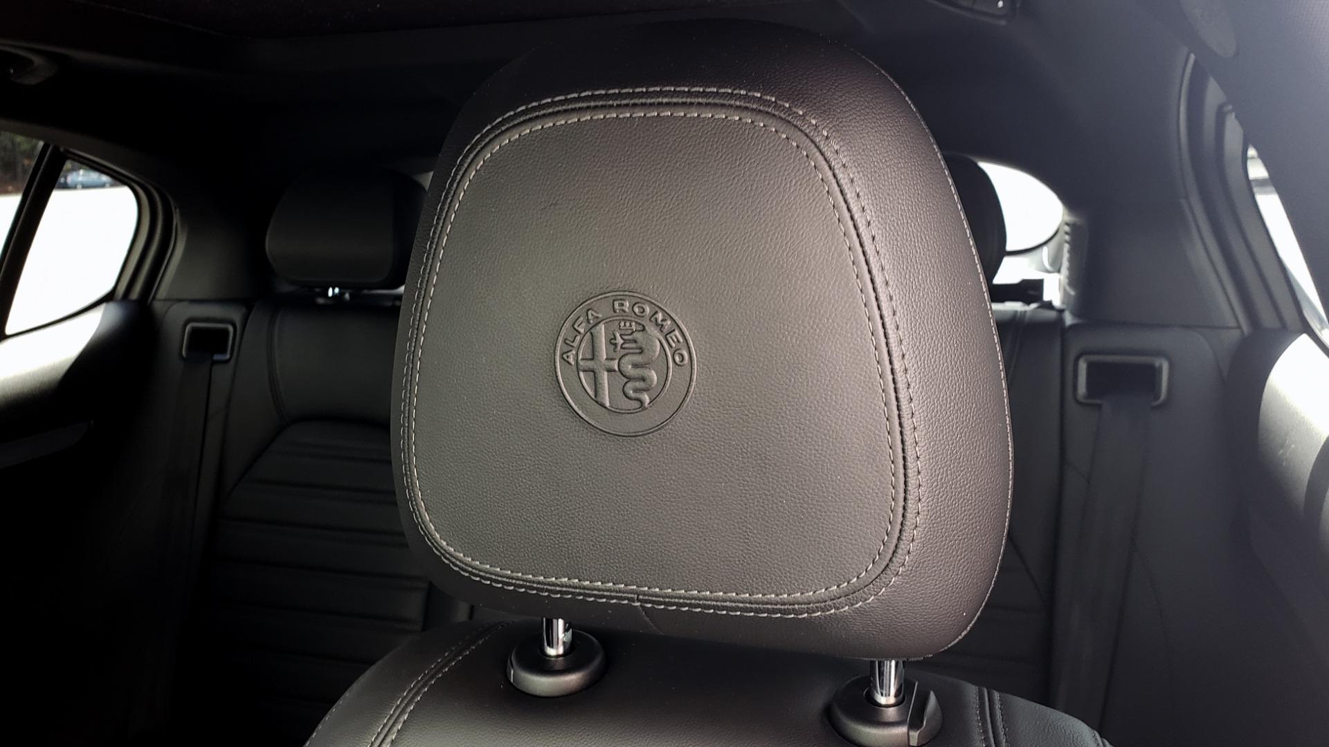 Used 2019 Alfa Romeo STELVIO TI SPORT AWD / 2.0L TURBO / 8-SPD AUTO / DRVR ASST / REARVIEW for sale $37,495 at Formula Imports in Charlotte NC 28227 45