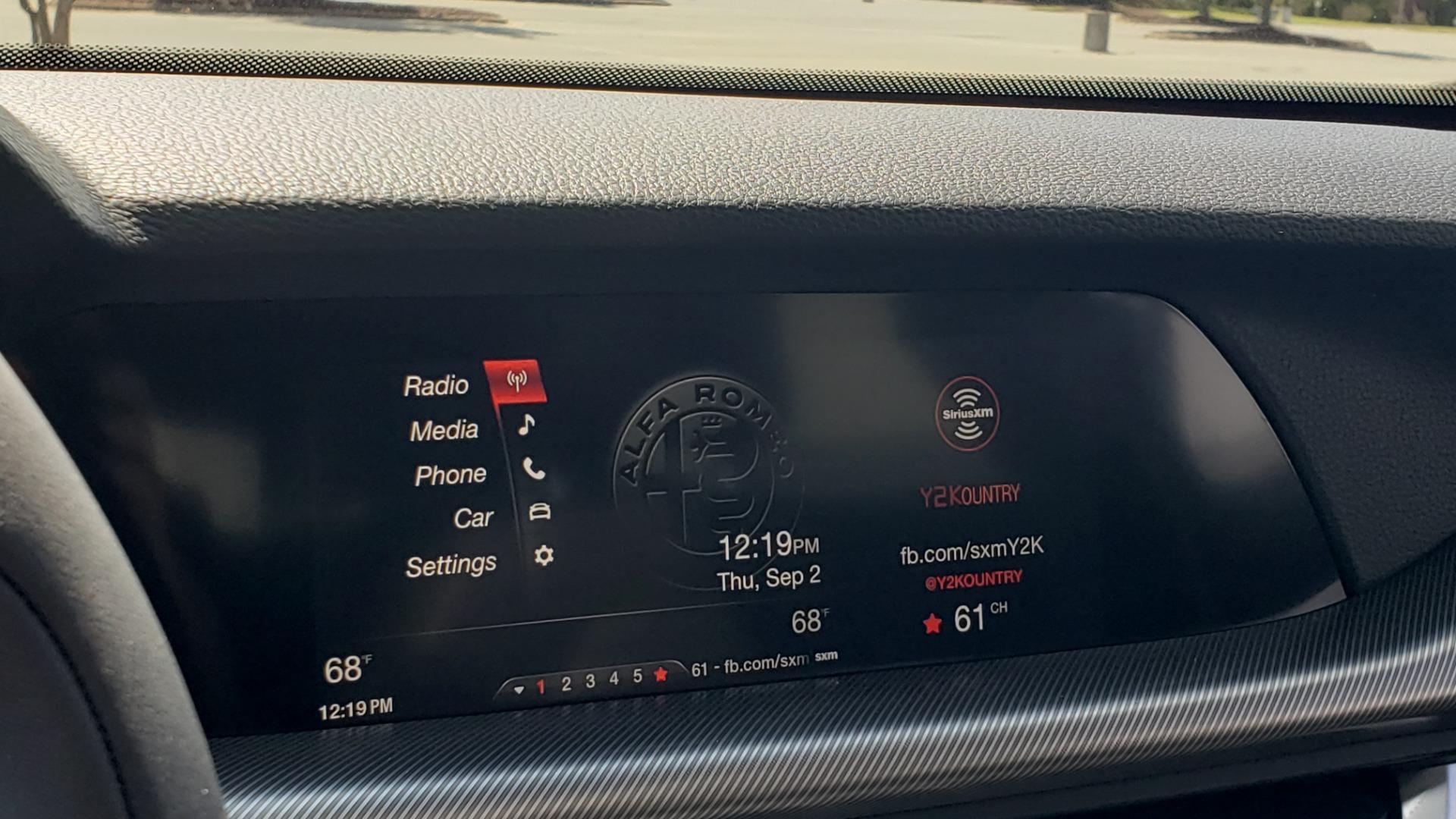 Used 2019 Alfa Romeo STELVIO TI SPORT AWD / 2.0L TURBO / 8-SPD AUTO / DRVR ASST / REARVIEW for sale $37,495 at Formula Imports in Charlotte NC 28227 53
