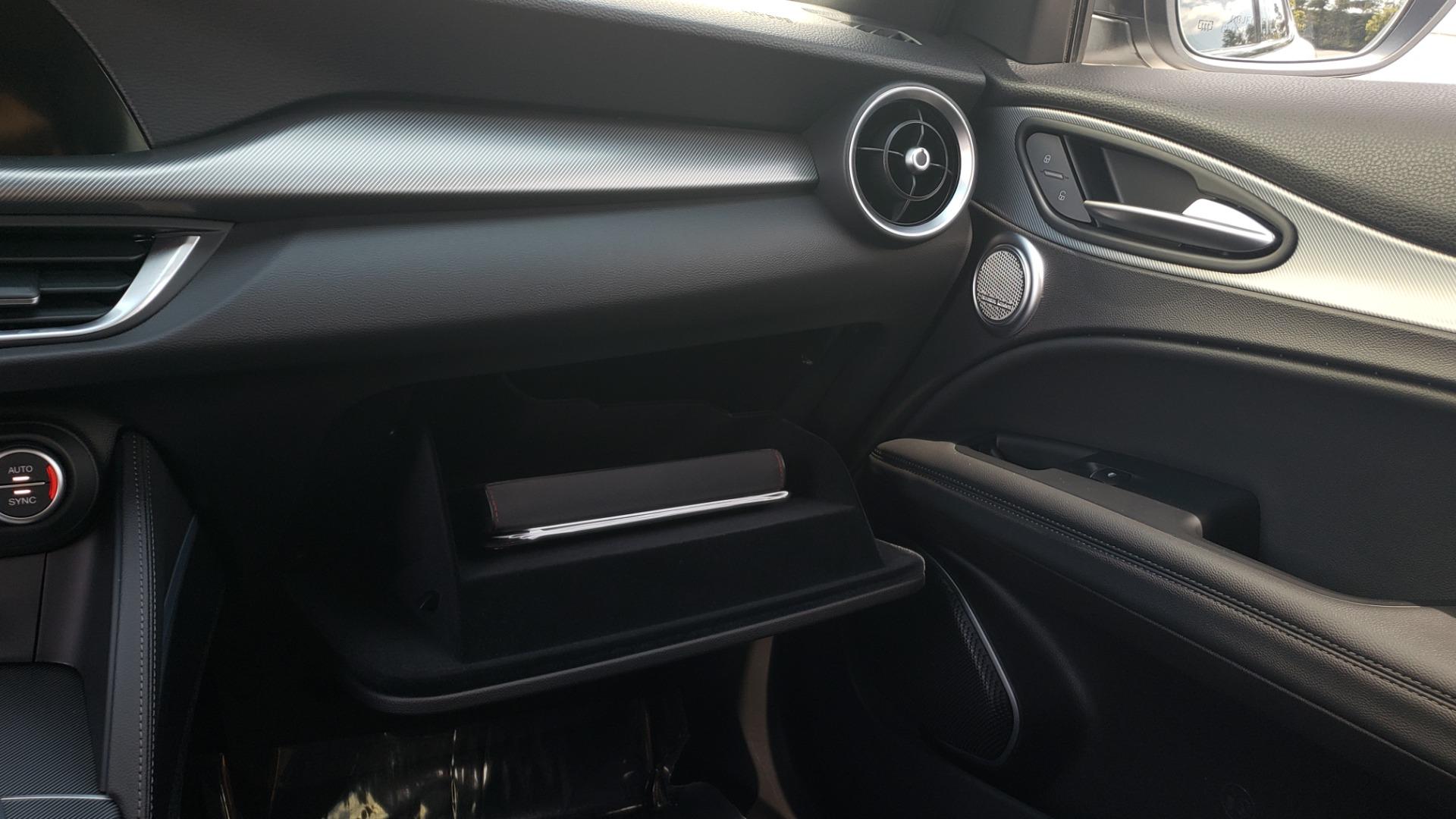 Used 2019 Alfa Romeo STELVIO TI SPORT AWD / 2.0L TURBO / 8-SPD AUTO / DRVR ASST / REARVIEW for sale $37,495 at Formula Imports in Charlotte NC 28227 56