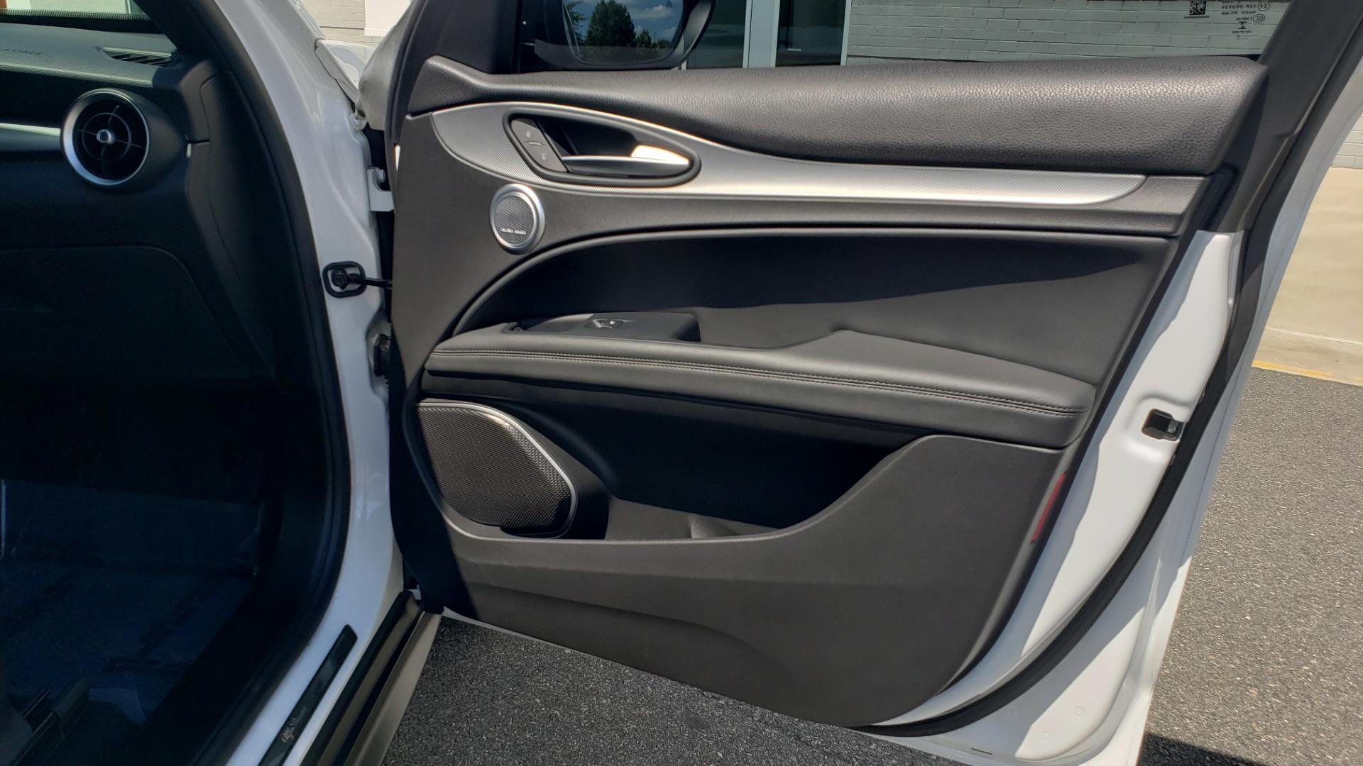 Used 2019 Alfa Romeo STELVIO TI SPORT AWD / 2.0L TURBO / 8-SPD AUTO / DRVR ASST / REARVIEW for sale $37,495 at Formula Imports in Charlotte NC 28227 69
