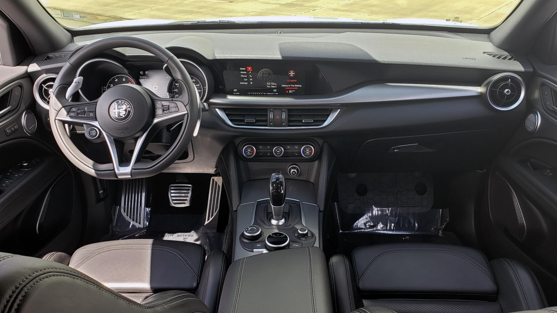 Used 2019 Alfa Romeo STELVIO TI SPORT AWD / 2.0L TURBO / 8-SPD AUTO / DRVR ASST / REARVIEW for sale $37,495 at Formula Imports in Charlotte NC 28227 81