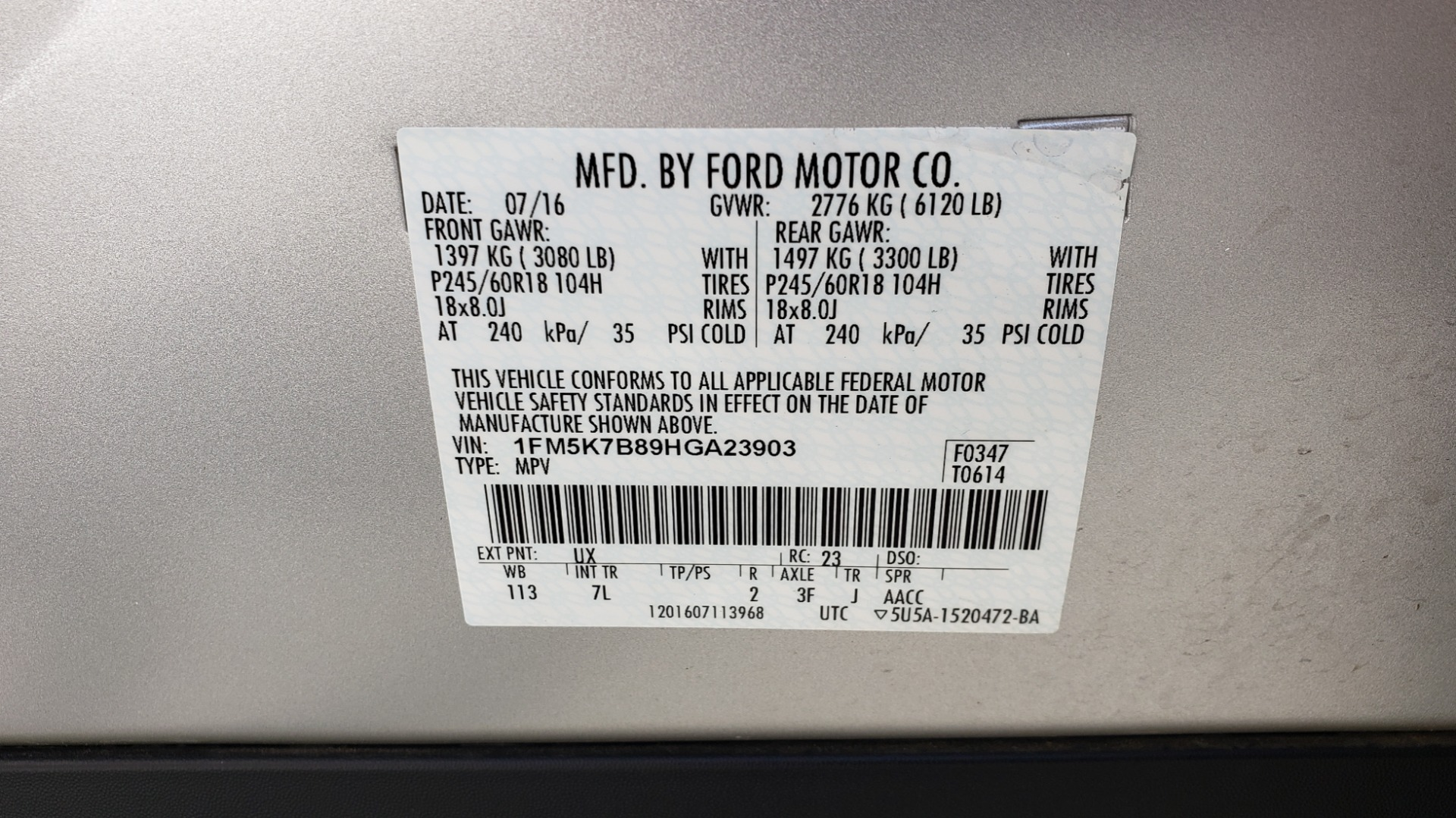 Used 2017 Ford EXPLORER 3.5L V6 / 6-SPD AUTO / BLIND SPOT MONITOR / 3-ROW / SYNC / REARVIEW for sale $22,995 at Formula Imports in Charlotte NC 28227 88