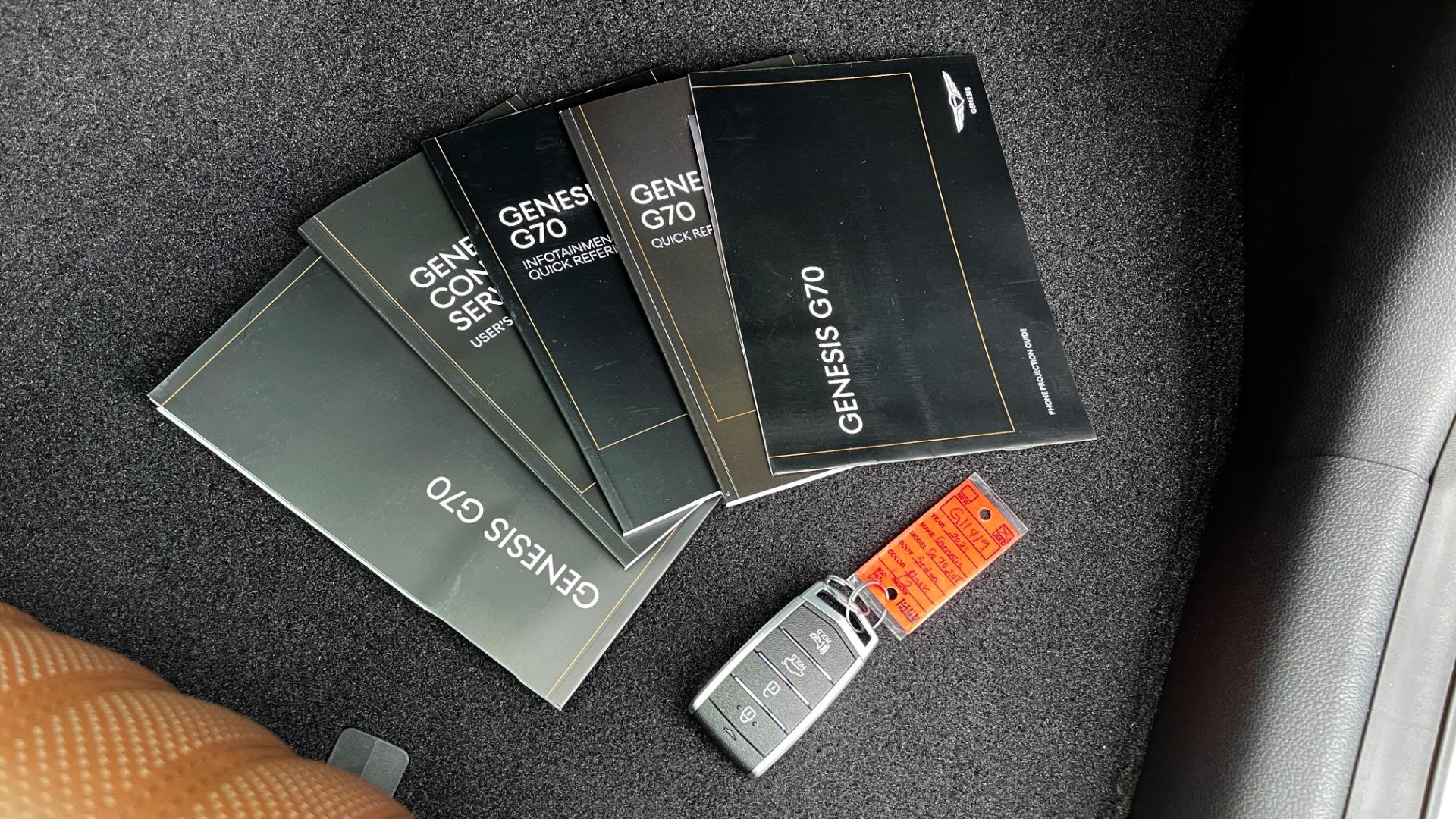 Used 2021 Genesis G70 ELITE 2.0T SEDAN / NAV / LANE ASST / BSA / SUNROOF / LEATHER / REARVIEW for sale $39,995 at Formula Imports in Charlotte NC 28227 68