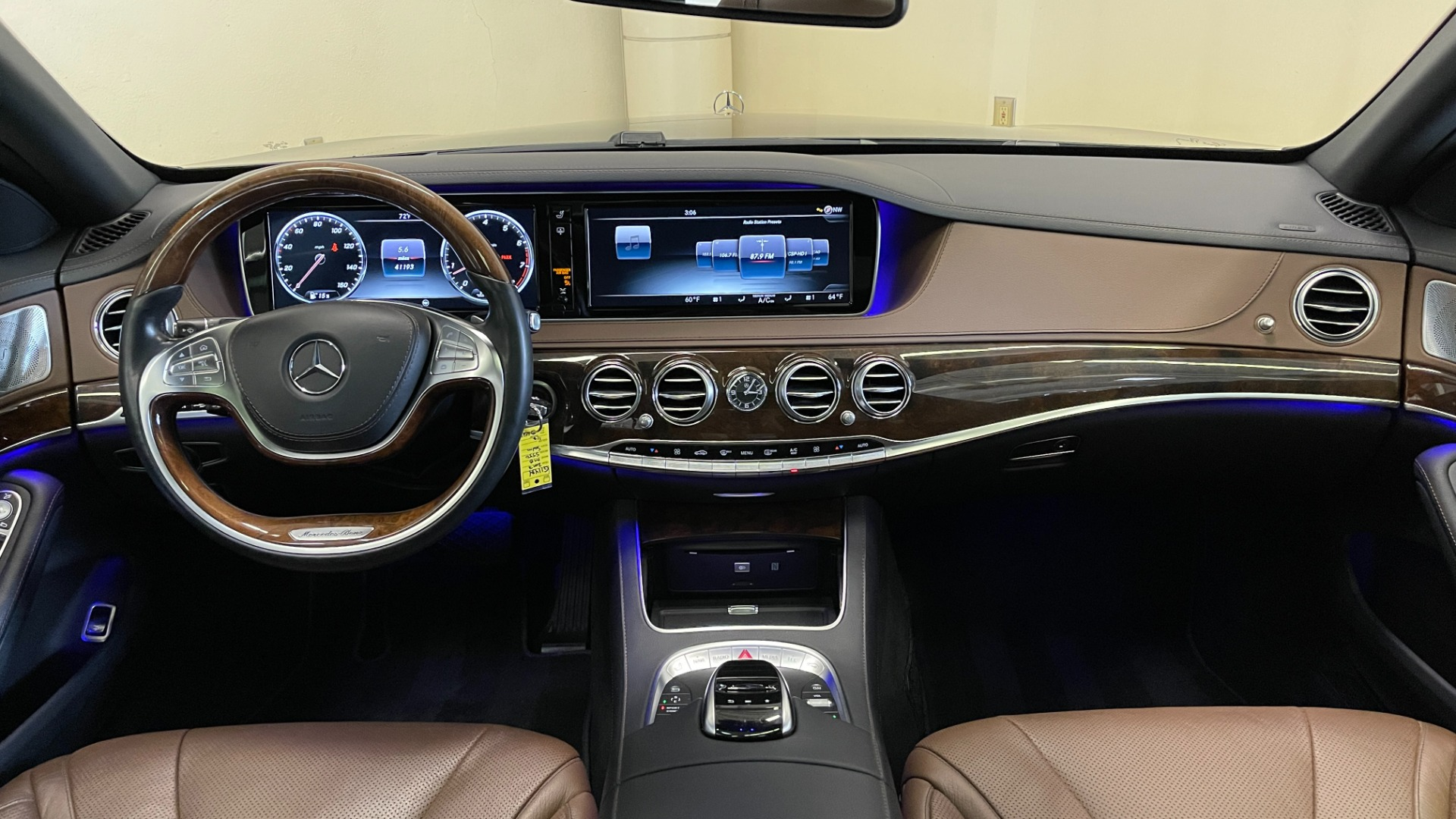 Used 2017 Mercedes-Benz S-CLASS S 550 4MATIC PREMIUM / NAV / BURMESTER / SUNROOF / REARVIEW for sale $58,995 at Formula Imports in Charlotte NC 28227 57