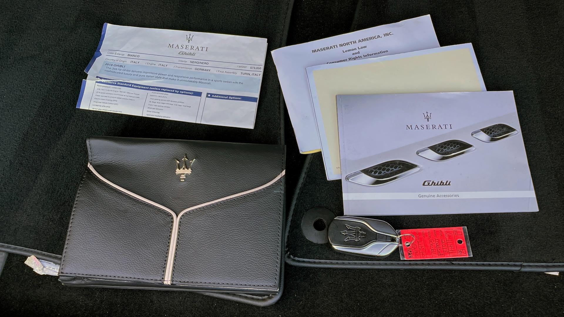 Used 2018 Maserati GHIBLI SEDAN / RWD / 3.0L V6 / SUNROOF / NAV / REARVIEW for sale $42,995 at Formula Imports in Charlotte NC 28227 67