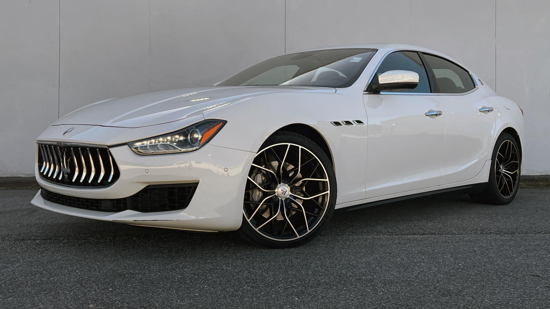 Used 2018 Maserati GHIBLI SEDAN / RWD / 3.0L V6 / SUNROOF / NAV / REARVIEW for sale $42,995 at Formula Imports in Charlotte NC 28227 1