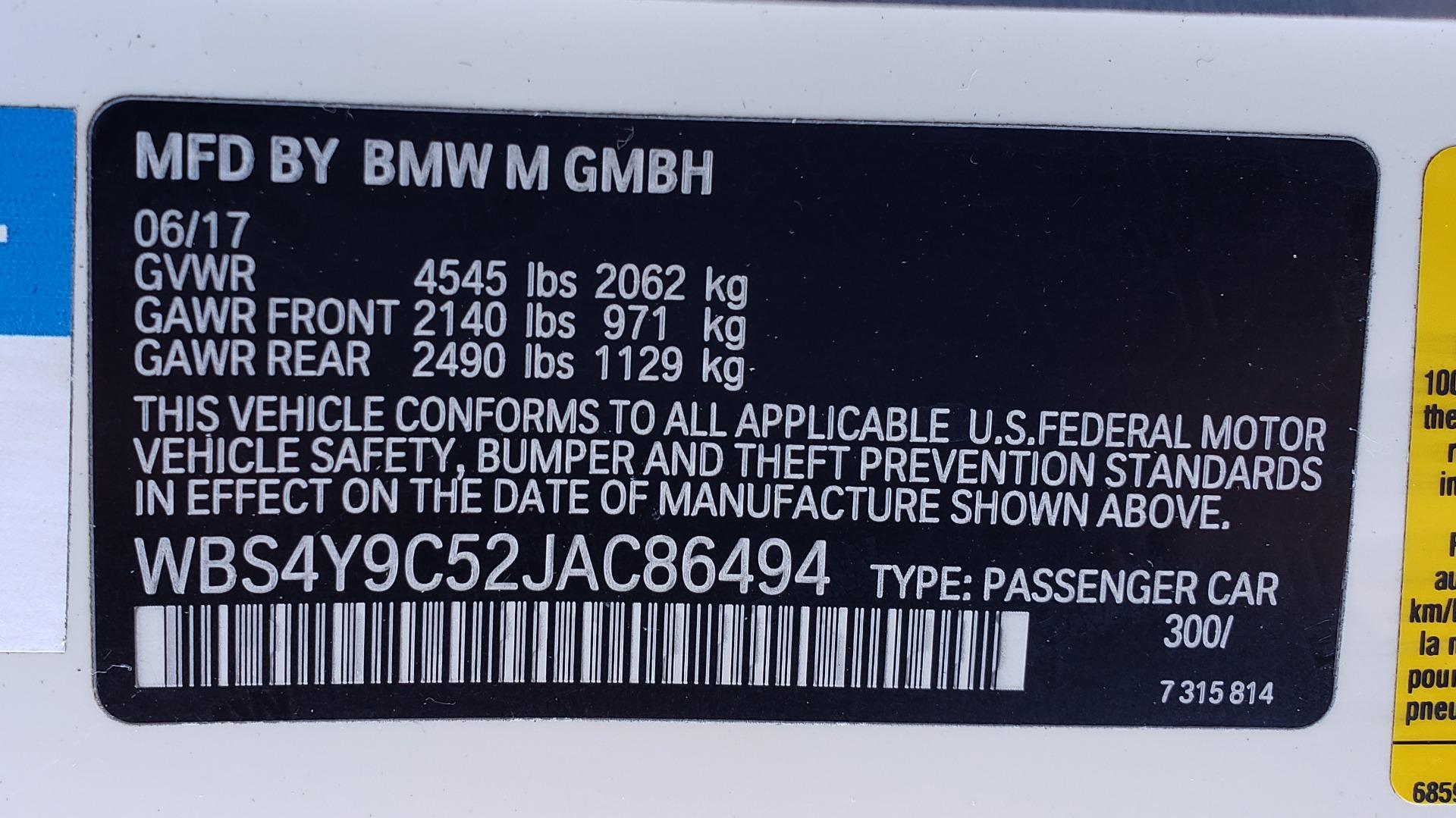 Used 2018 BMW M4 COMP PKG / EXEC / M-DRIVER / PARK CNTRL / ACTIVE BLIND SPOT for sale Sold at Formula Imports in Charlotte NC 28227 73