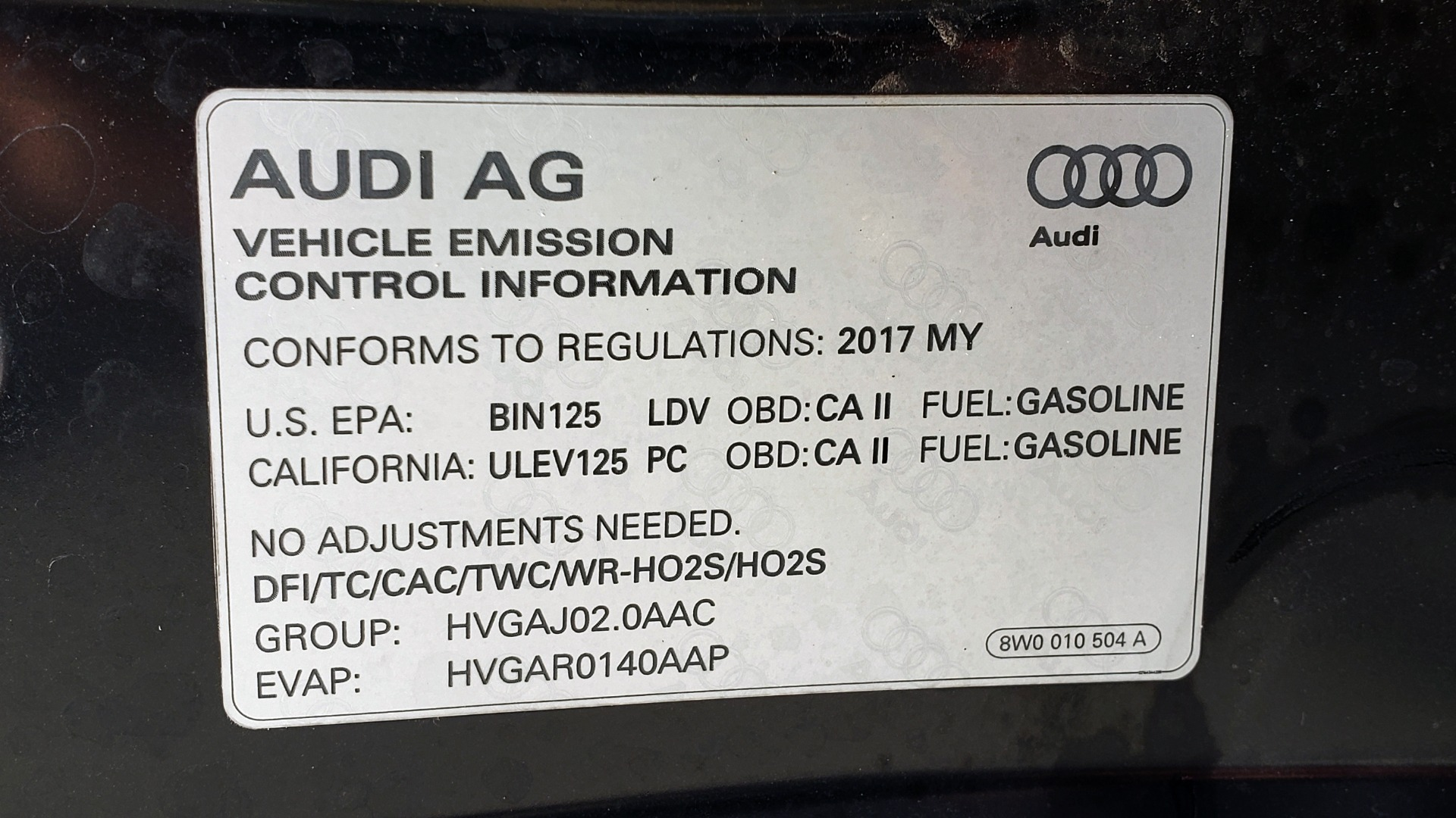 Used 2017 Audi A4 PREMIUM PLUS 2.0T / TECH / NAV / CLD WTHR / SUNROOF / REARVIEW for sale Sold at Formula Imports in Charlotte NC 28227 12