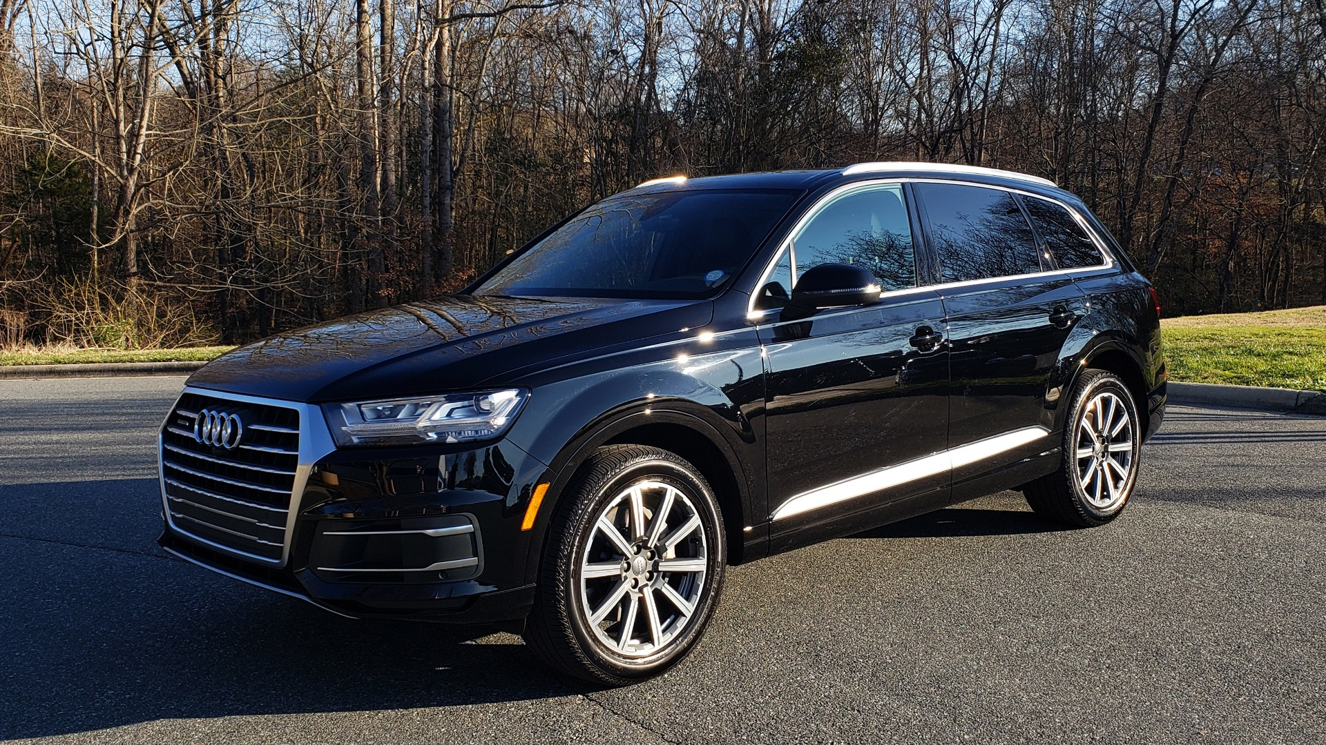 Used 2019 Audi Q7 PREMIUM PLUS / NAV / PANO-ROOF / 3-ROW / REARVIEW for sale Sold at Formula Imports in Charlotte NC 28227 1