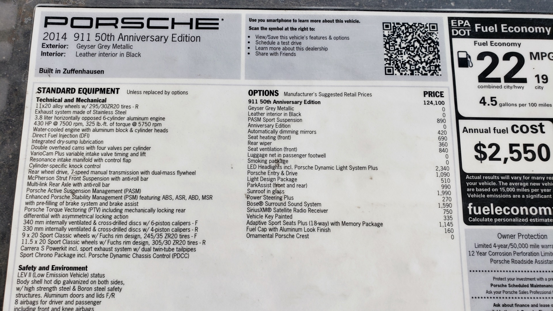 Used 2014 Porsche 911 50TH ANNIVERSARY EDITION NO. 0423 / 7-SPD MAN / NAV / BOSE for sale $118,999 at Formula One Imports in Charlotte NC 28227 100