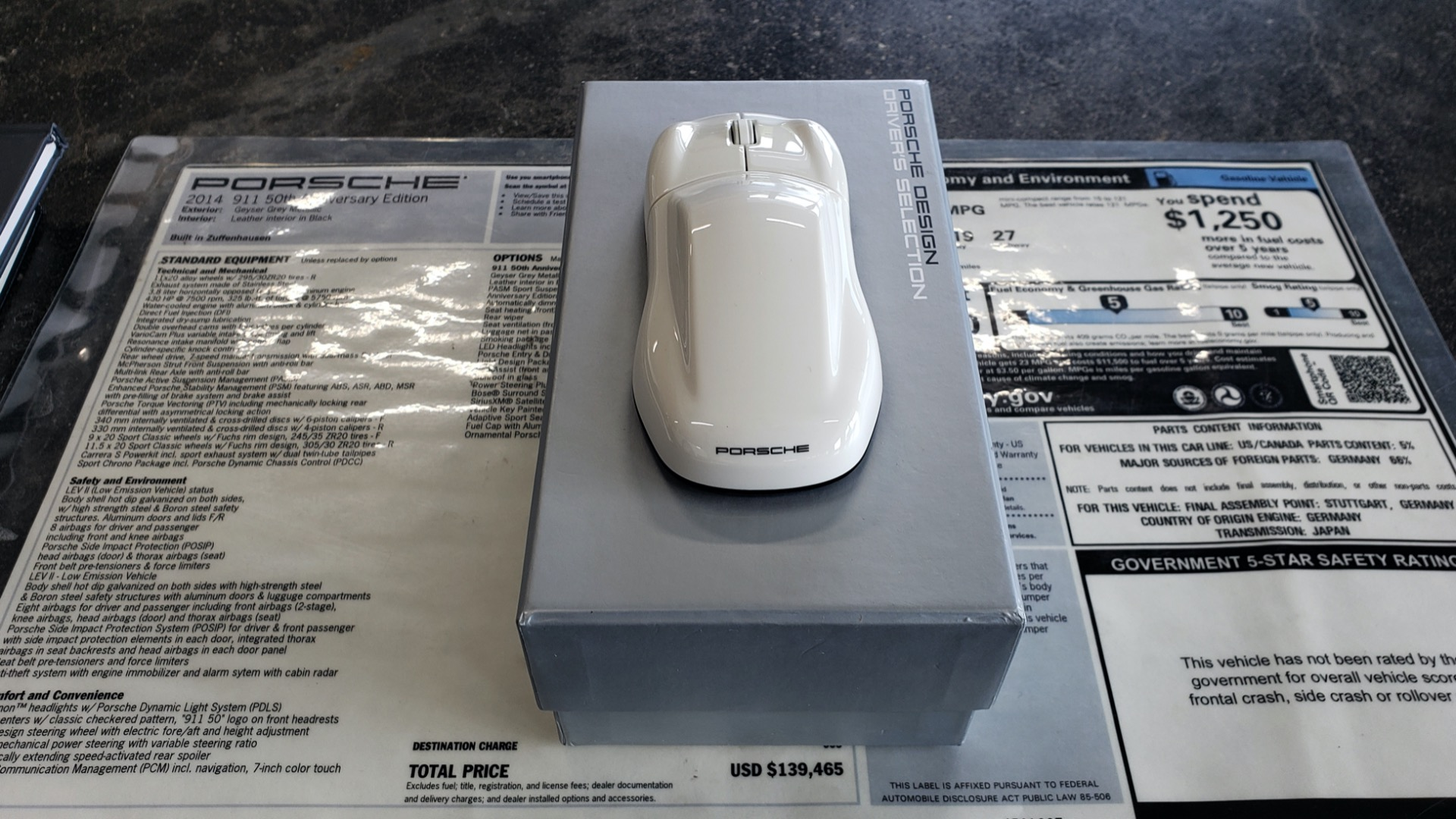 Used 2014 Porsche 911 50TH ANNIVERSARY EDITION NO. 0423 / 7-SPD MAN / NAV / BOSE for sale $118,999 at Formula One Imports in Charlotte NC 28227 103