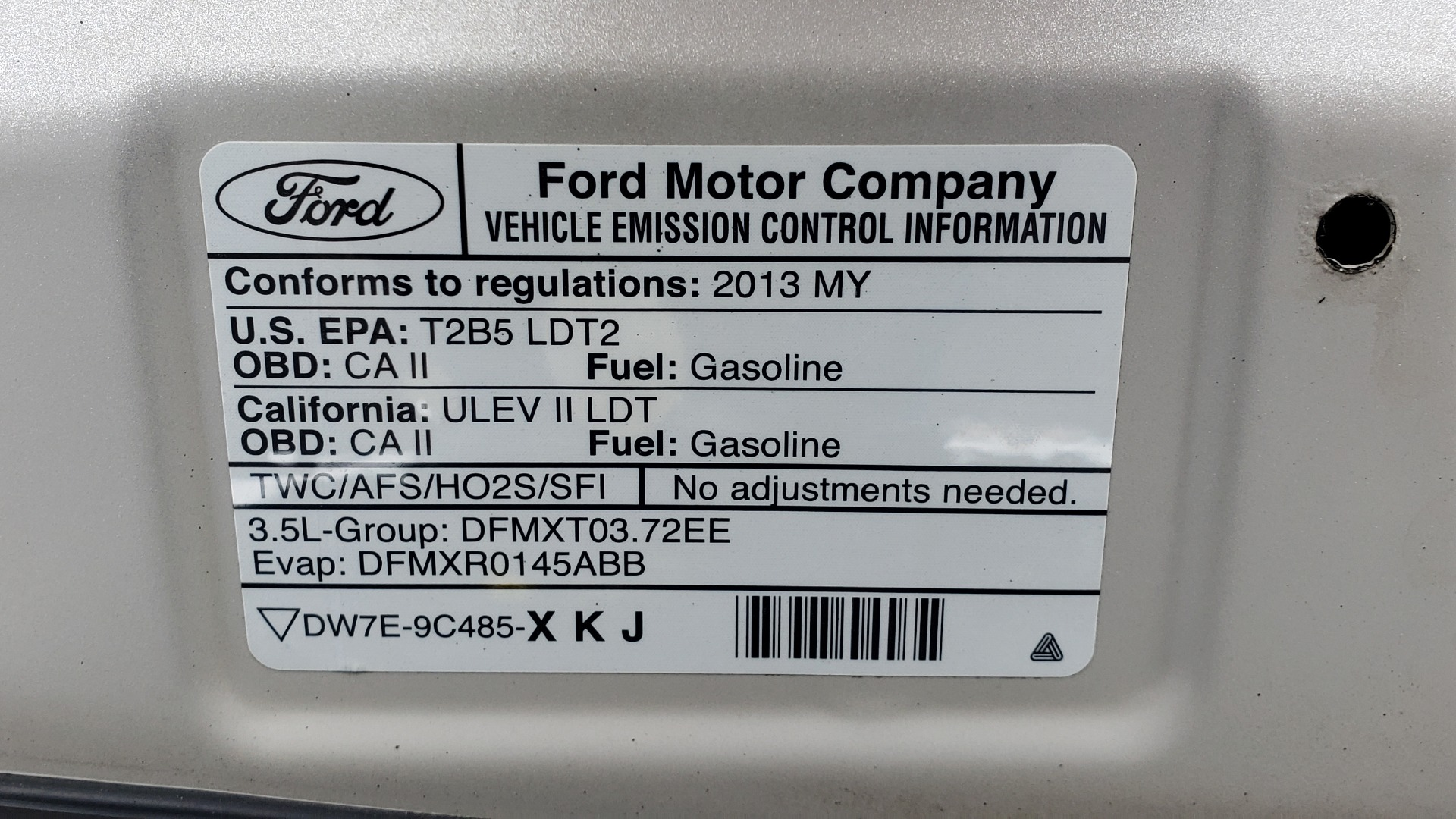 Used 2013 Ford EDGE SE / AWD / 18 IN WHEELS / SYNC / 3.5L V6 / AUTO for sale Sold at Formula Imports in Charlotte NC 28227 12