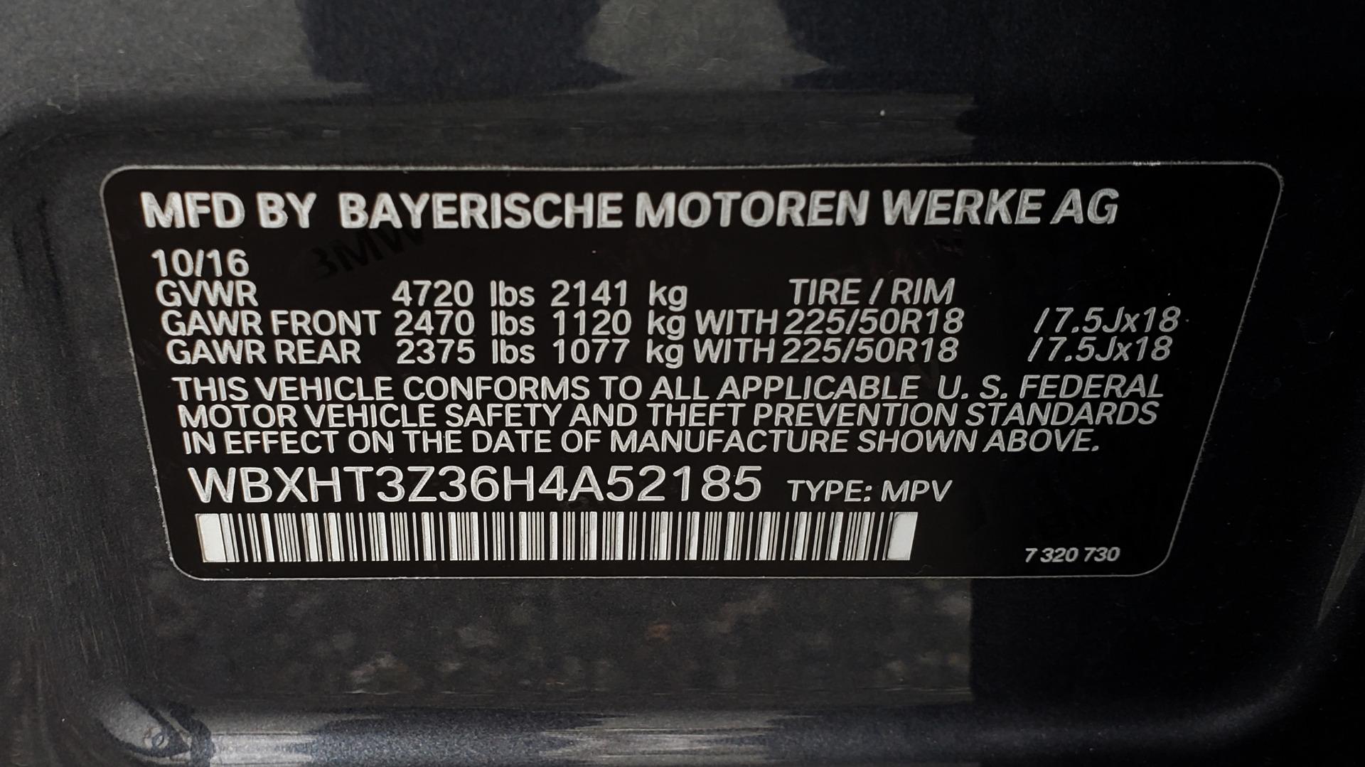 Used 2017 BMW X1 XDRIVE28I / PREM PKG / DRIVER ASST / NAV / CLD WTHR for sale Sold at Formula Imports in Charlotte NC 28227 92