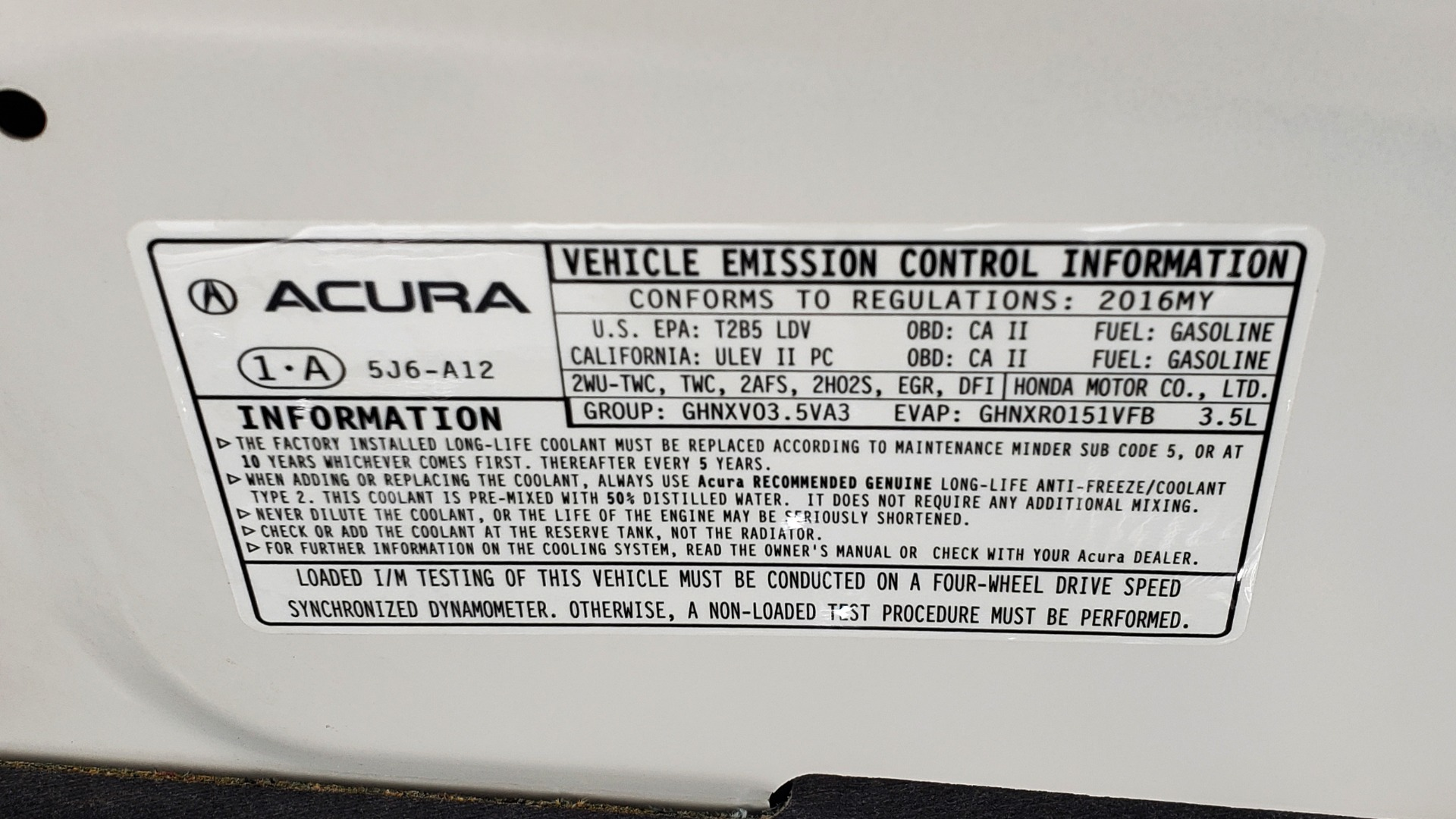 Used 2016 Acura MDX AWD W/ADVANCED PKG / NAV / SUNROOF / REARVIEW / 3-ROW for sale Sold at Formula Imports in Charlotte NC 28227 13
