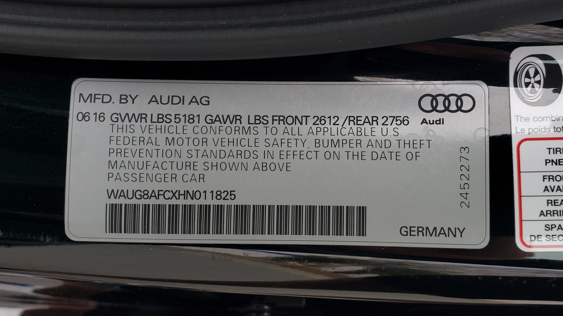 Used 2017 Audi A6 PREMIUM PLUS / NAV / SUNROOF / BOSE / CLD WTHR for sale Sold at Formula Imports in Charlotte NC 28227 88