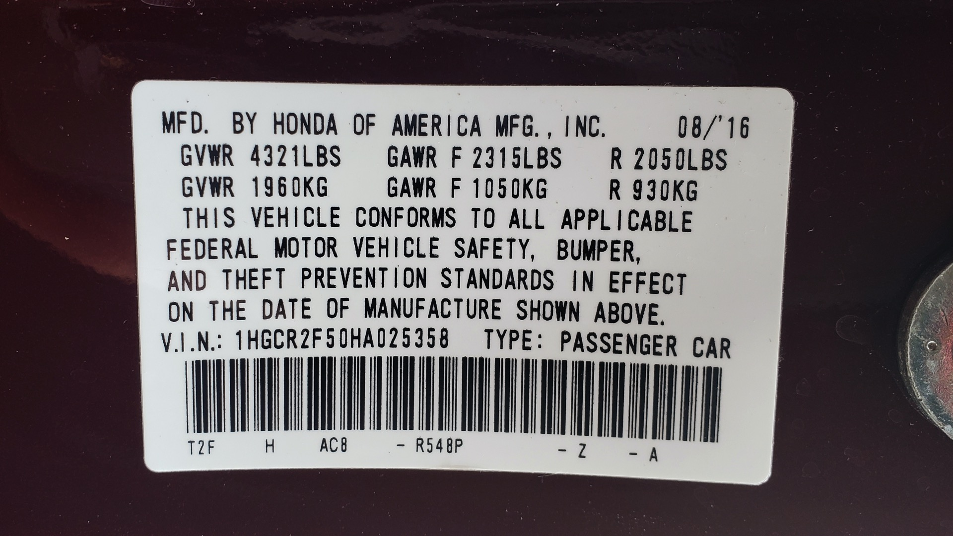 Used 2017 Honda ACCORD SEDAN SPORT / REARVIEW / / DUAL-ZONE A/C / 19IN ALLOY WHEELS for sale Sold at Formula Imports in Charlotte NC 28227 81