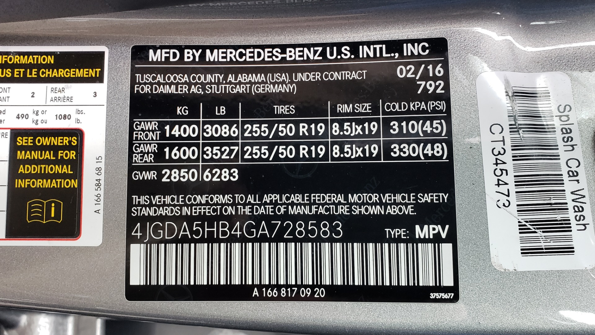Used 2016 Mercedes-Benz GLE 350 4MATIC / PREMIUM / LIGHTING / NAV / SUNROOF / HTD STS / REAR for sale Sold at Formula Imports in Charlotte NC 28227 84
