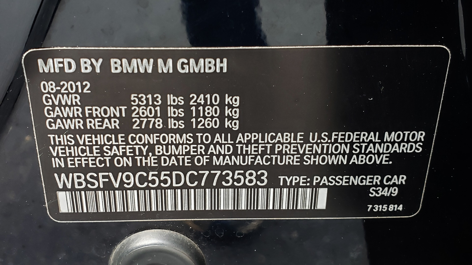 Used 2013 BMW M5 EXECUTIVE PKG / DRVR ASST / NAV / SUNROOF / REARVIEW for sale Sold at Formula Imports in Charlotte NC 28227 98